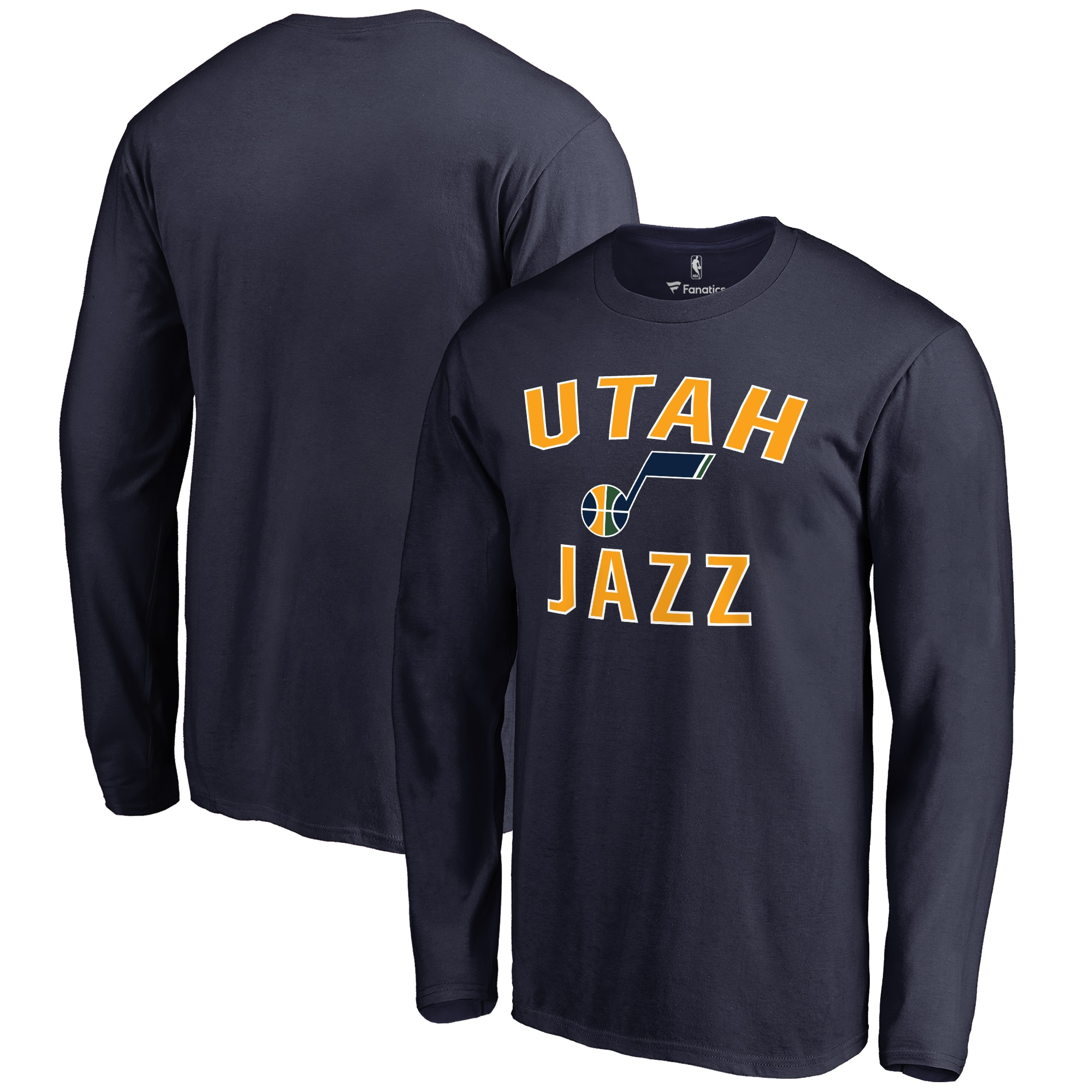 Utah Jazz Big & Tall Victory Arch Long Sleeve T-Shirt - Navy