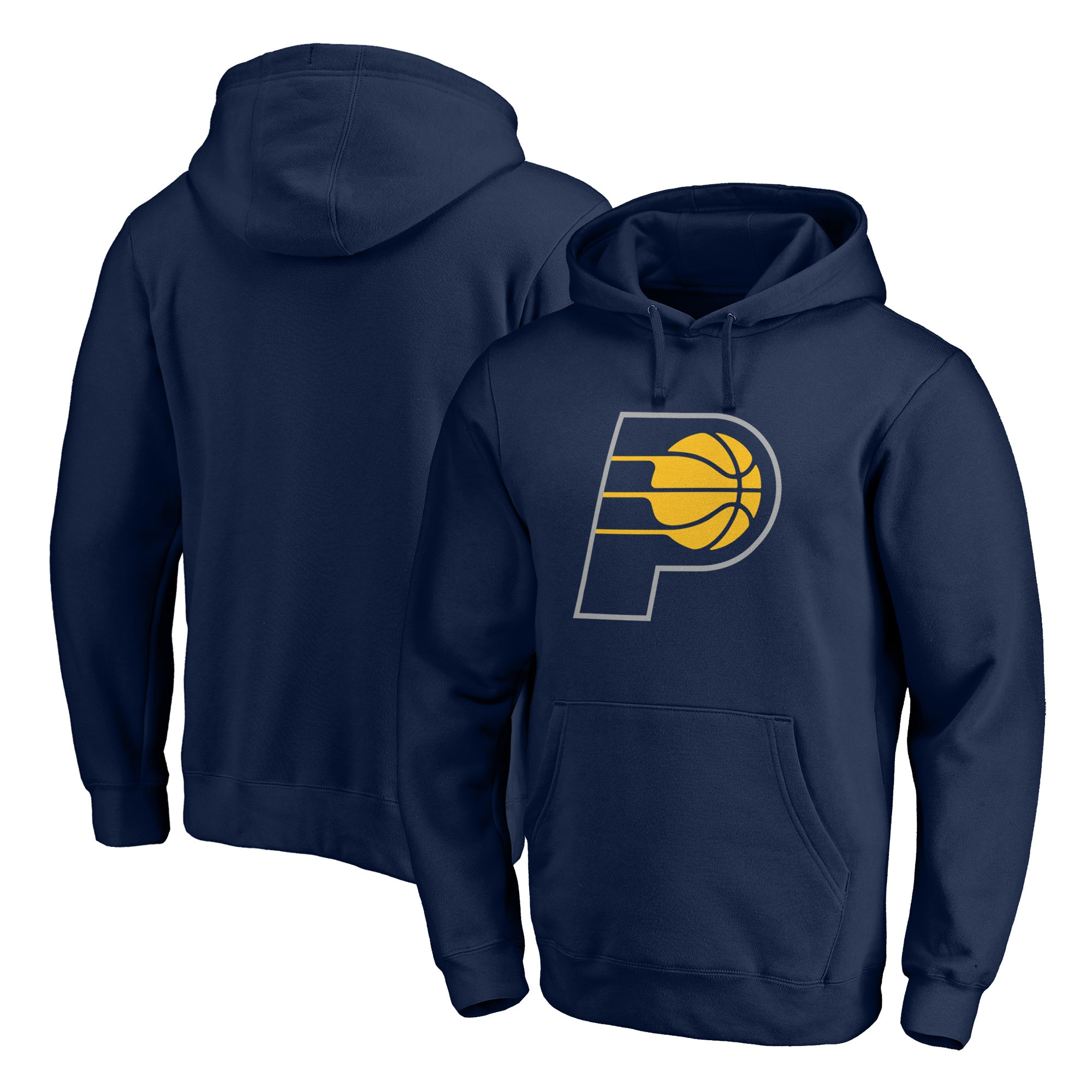 Indiana Pacers Fanatics Branded Primary Team Logo Pullover Hoodie - Navy