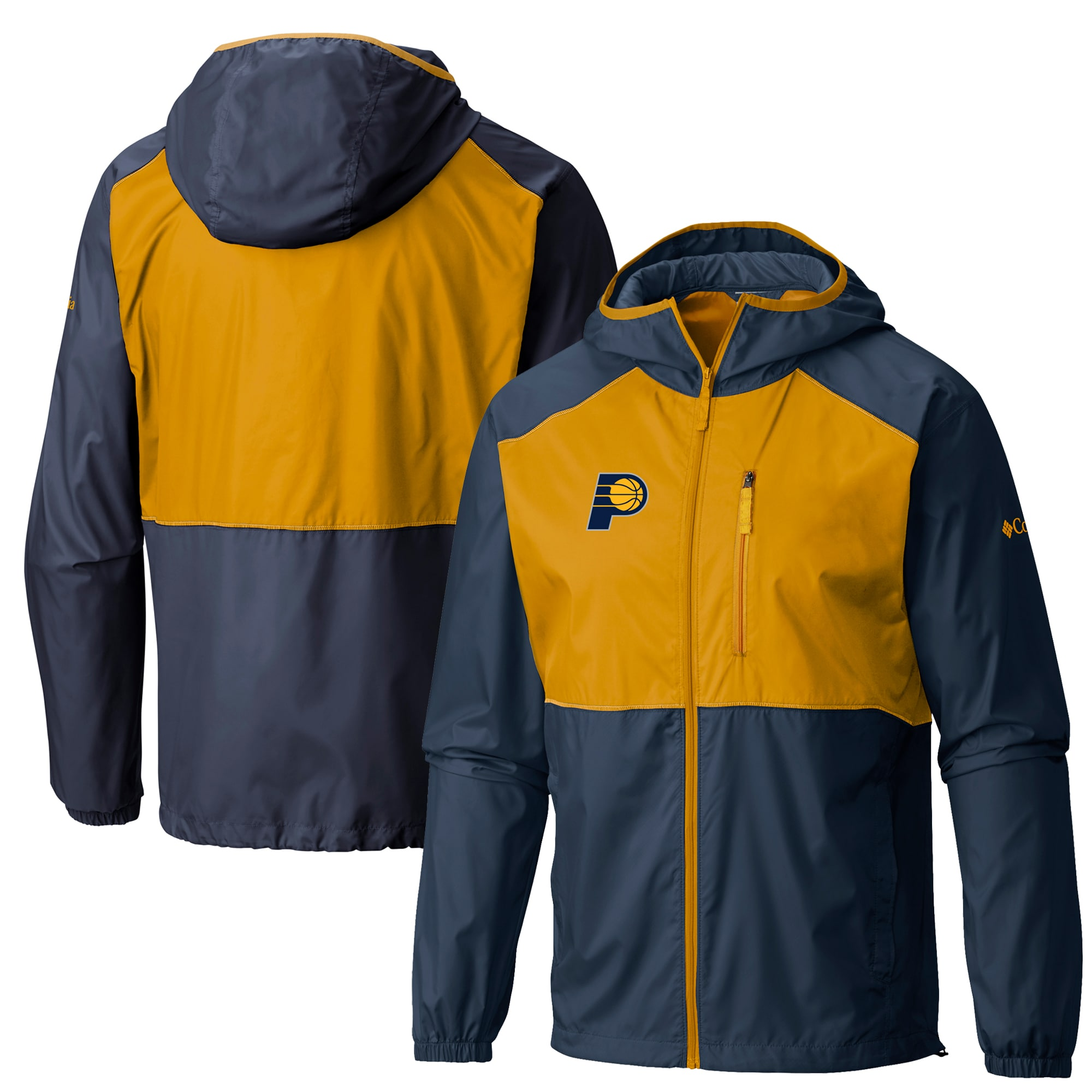 Indiana Pacers Columbia Flash Forward Full-Zip Windbreaker Jacket - Navy