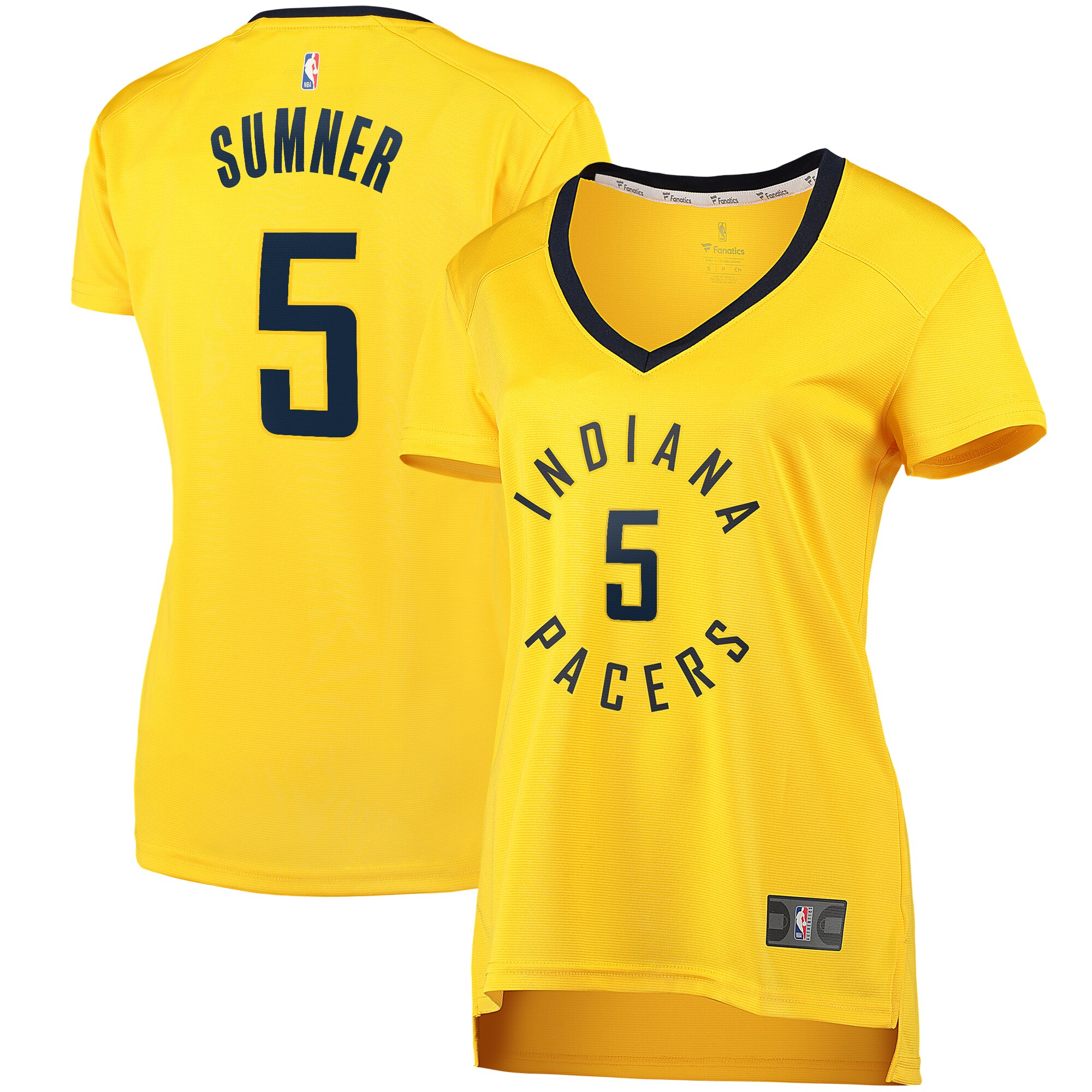 Edmond Sumner Indiana Pacers Fanatics Branded Women's Fast Break Player Replica Jersey - Statement Edition - Gold