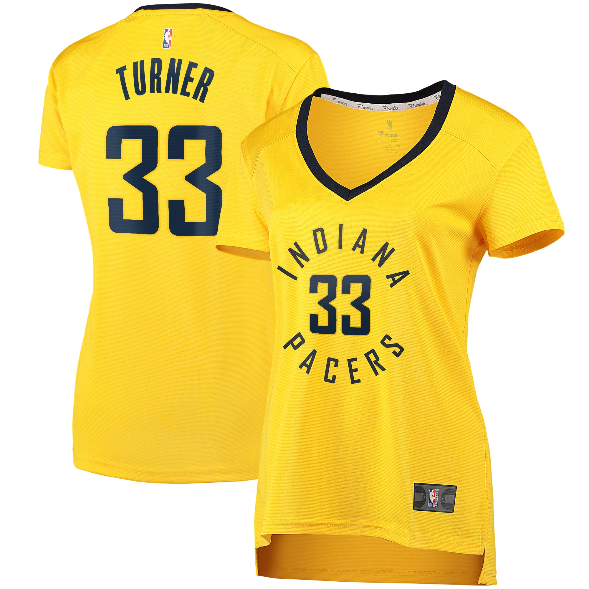 Myles Turner Indiana Pacers Fanatics Branded Women's Fast Break Player Replica Jersey - Statement Edition - Gold