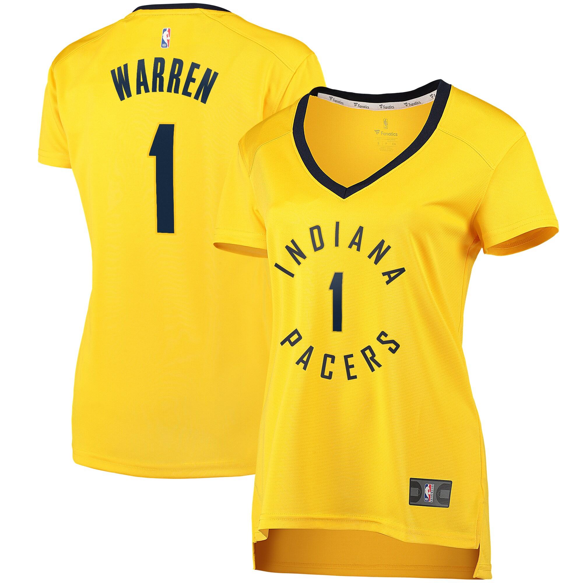 TJ Warren Indiana Pacers Fanatics Branded Women's Fast Break Player Replica Jersey - Statement Edition - Gold