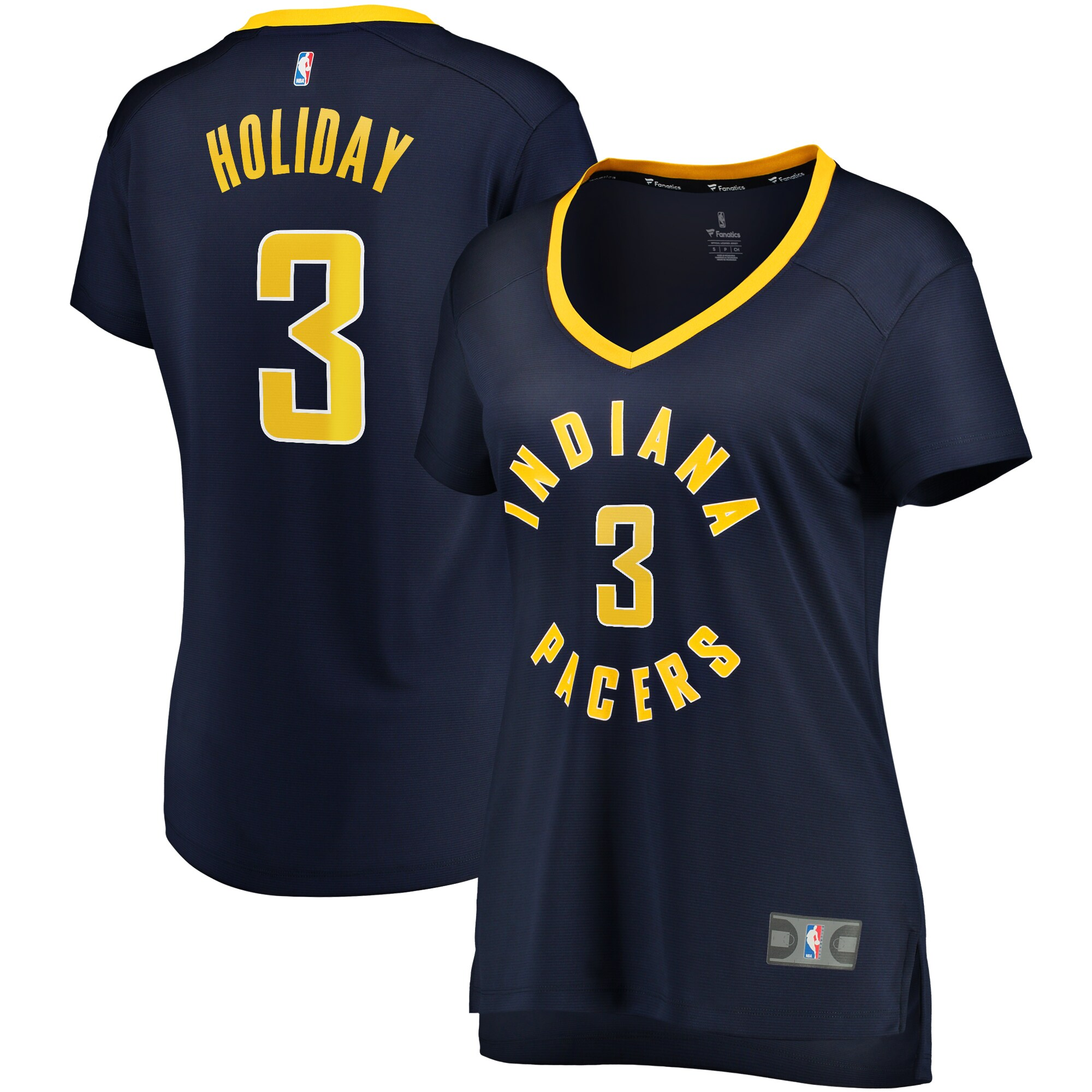 Aaron Holiday Indiana Pacers Fanatics Branded Women's Fast Break Player Replica Jersey - Icon Edition - Navy