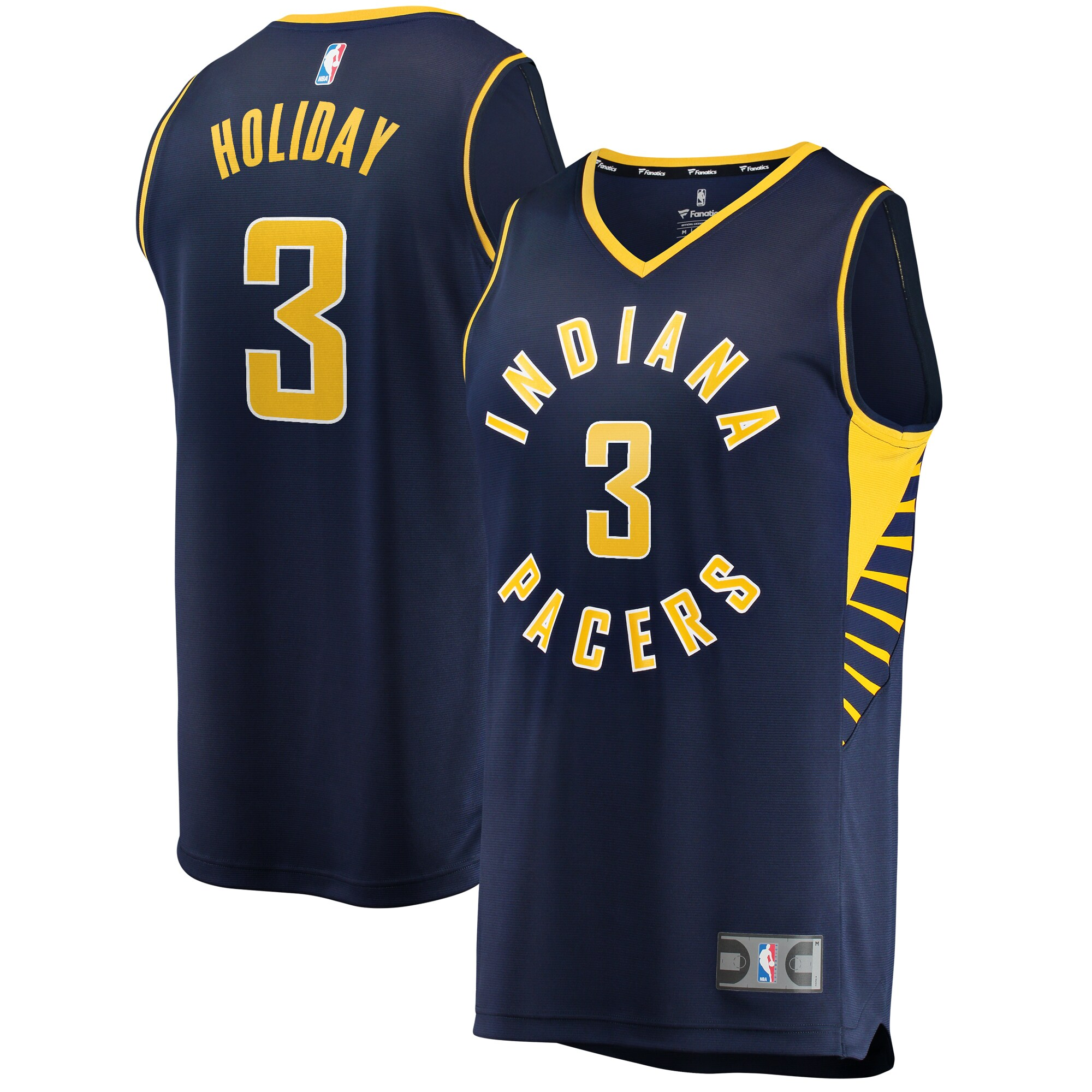 Aaron Holiday Indiana Pacers Fanatics Branded Youth Fast Break Replica Player Jersey - Icon Edition - Navy