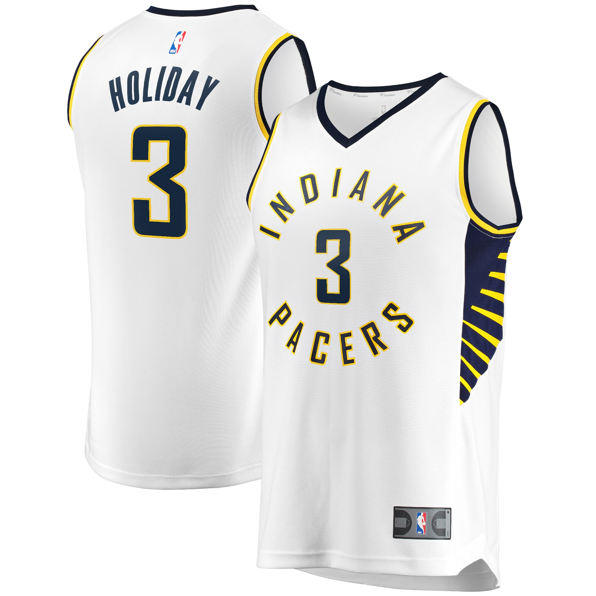 Aaron Holiday Indiana Pacers Fanatics Branded Fast Break Player Replica Jersey - Association Edition - White