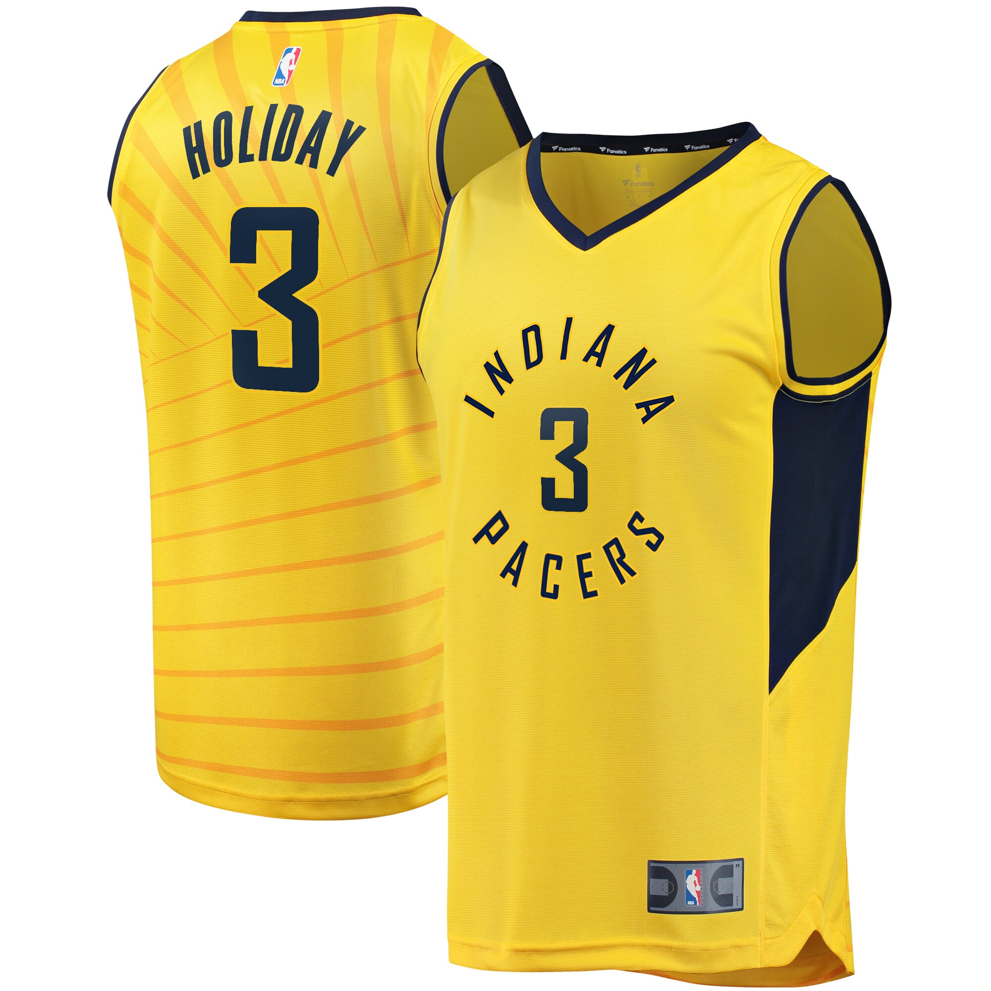Aaron Holiday Indiana Pacers Fanatics Branded Fast Break Player Replica Jersey - Statement Edition - Gold