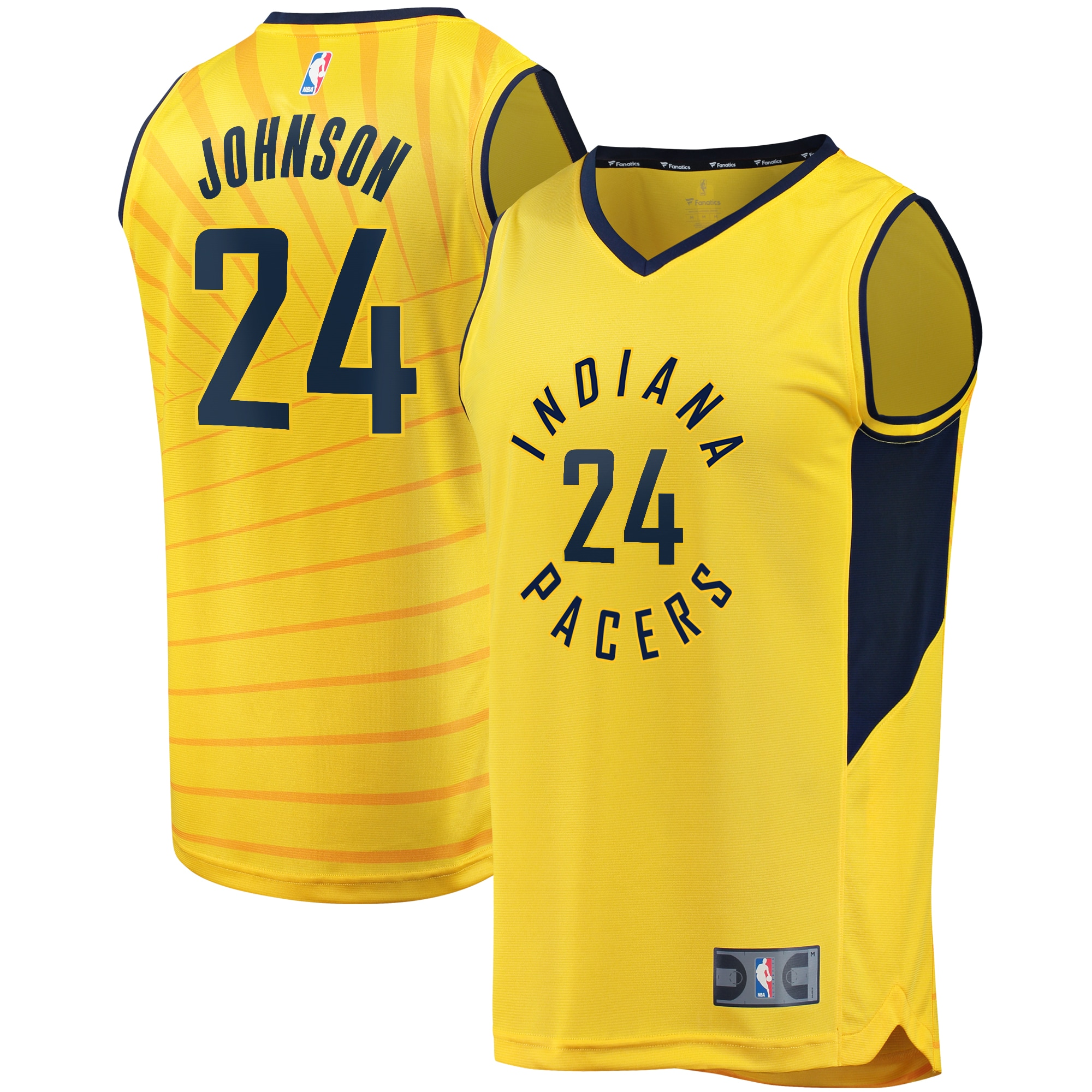 Alize Johnson Indiana Pacers Fanatics Branded Fast Break Player Replica Jersey - Statement Edition - Gold