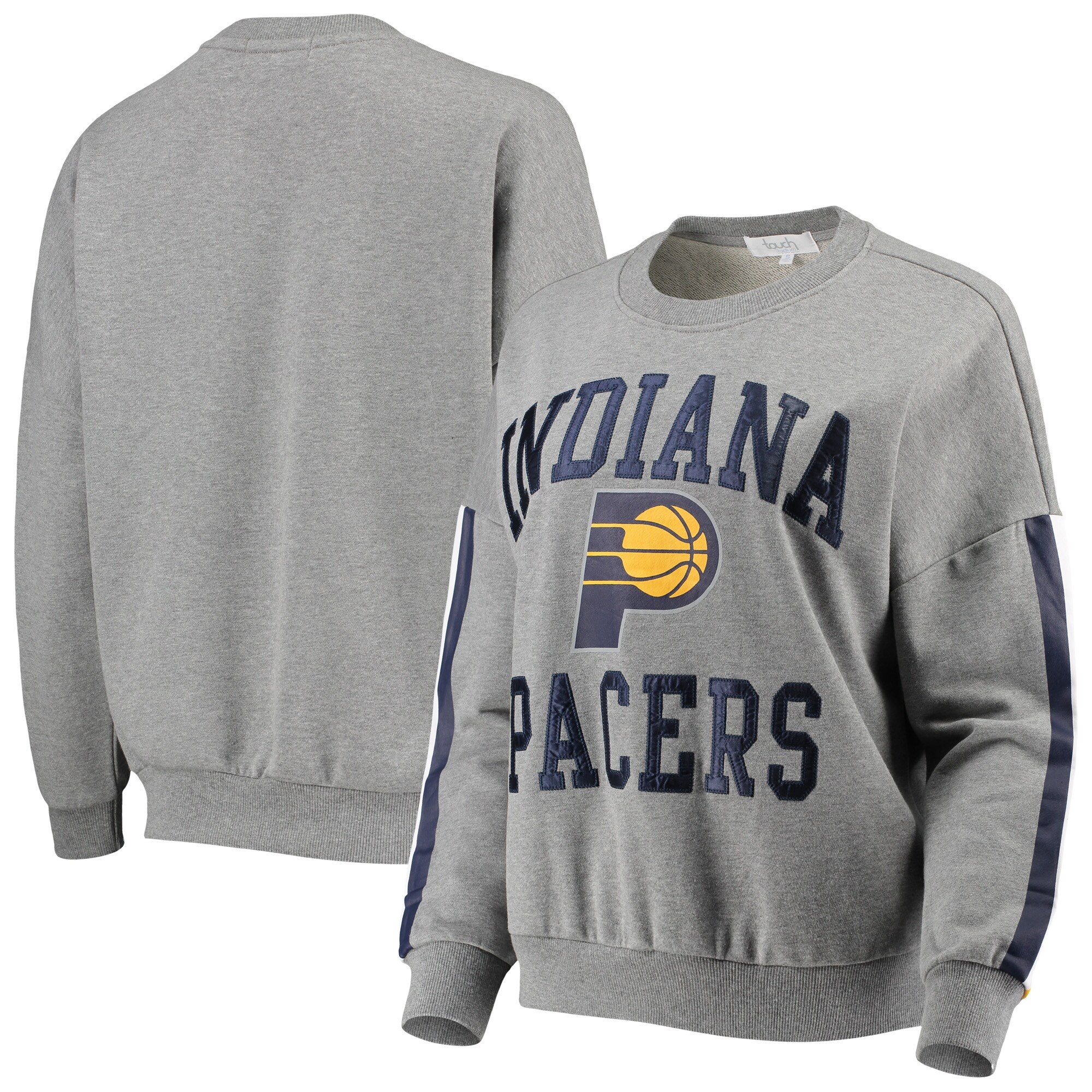 Indiana Pacers G-III 4Her by Carl Banks Women's Slouchy Rookie French Terry Pullover Sweatshirt - Gray