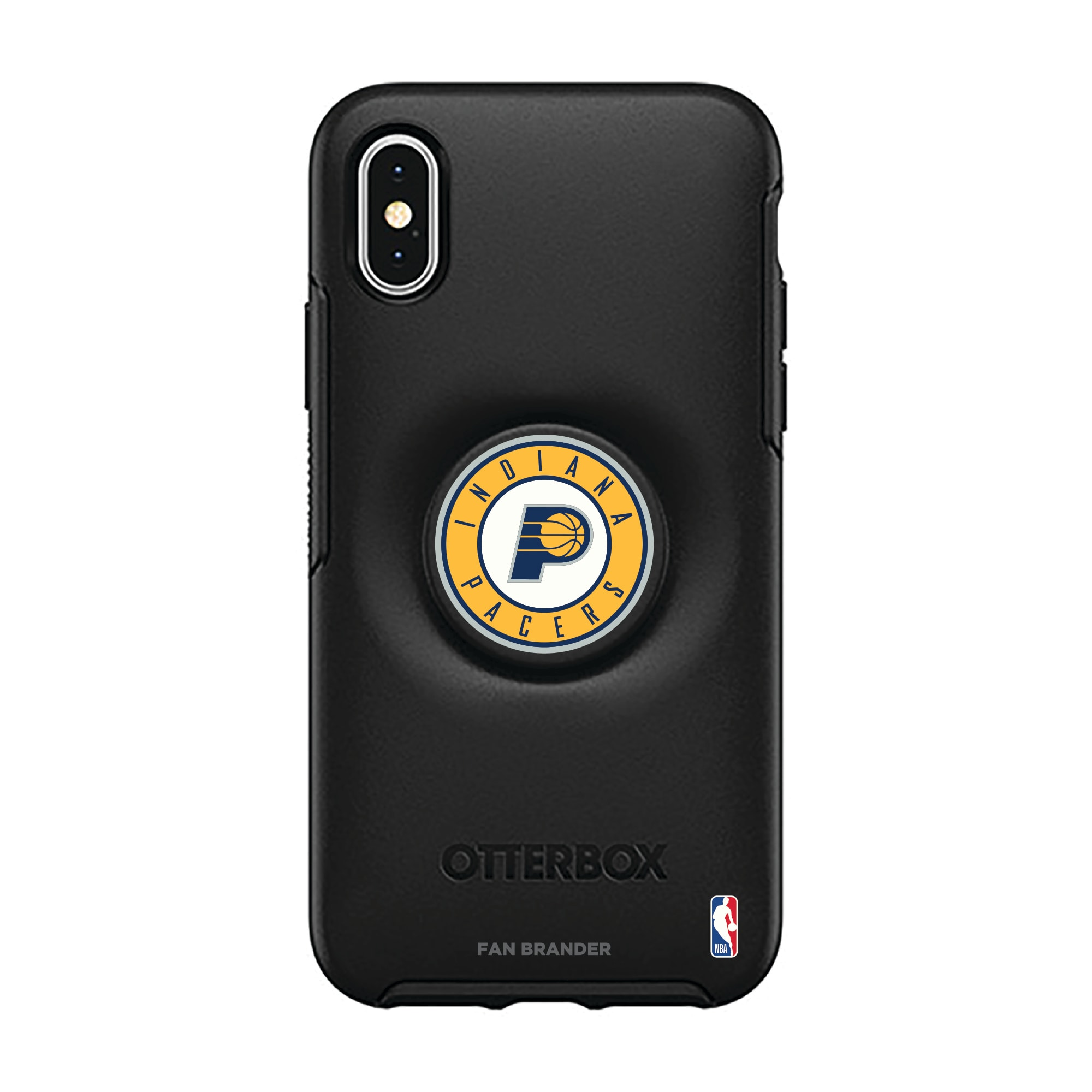 Indiana Pacers OtterBox Otter + Pop Symmetry Series iPhone Case with Integrated PopSockets PopGrip