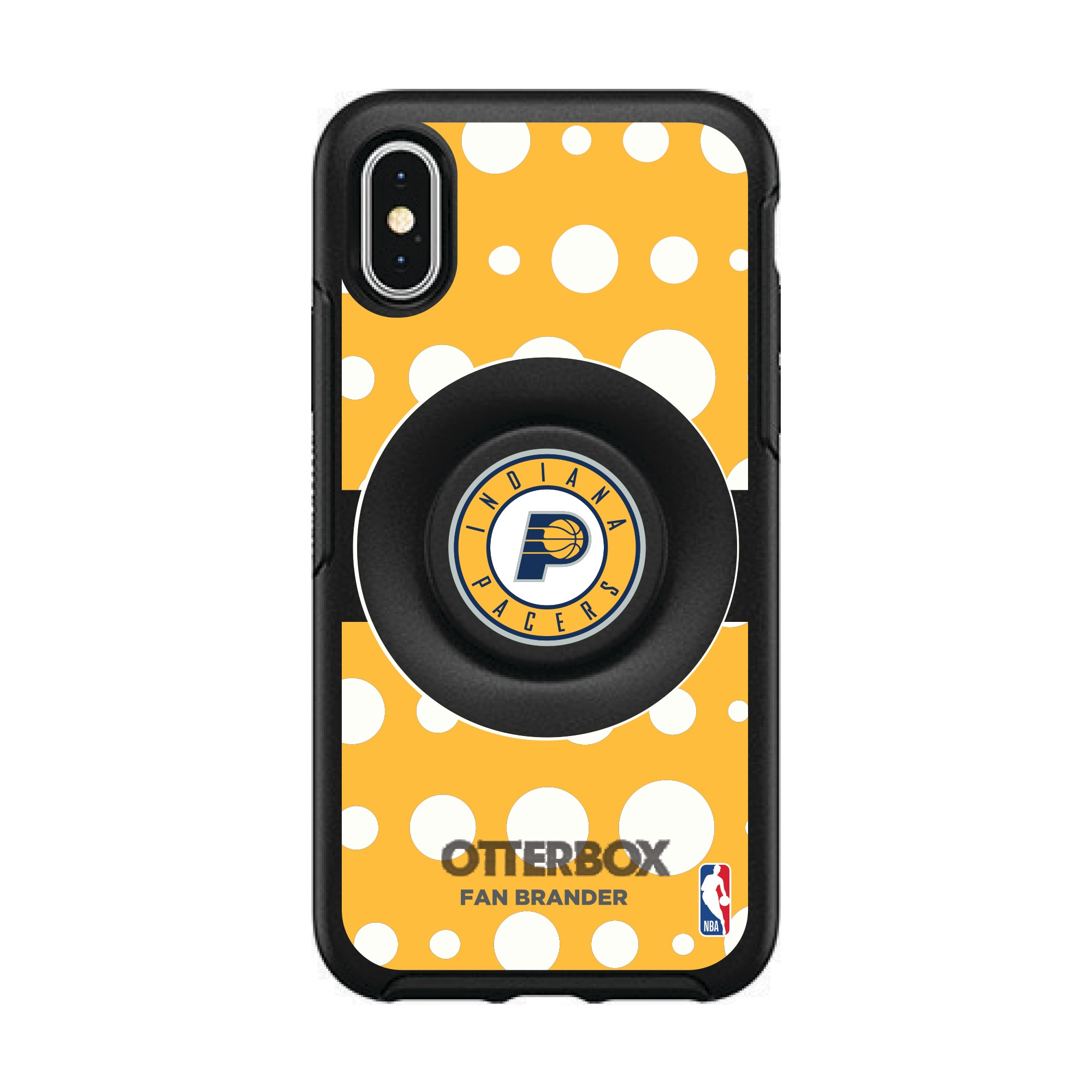 Indiana Pacers OtterBox Otter + Pop Polka Dot iPhone Case with Integrated PopSockets PopGrip
