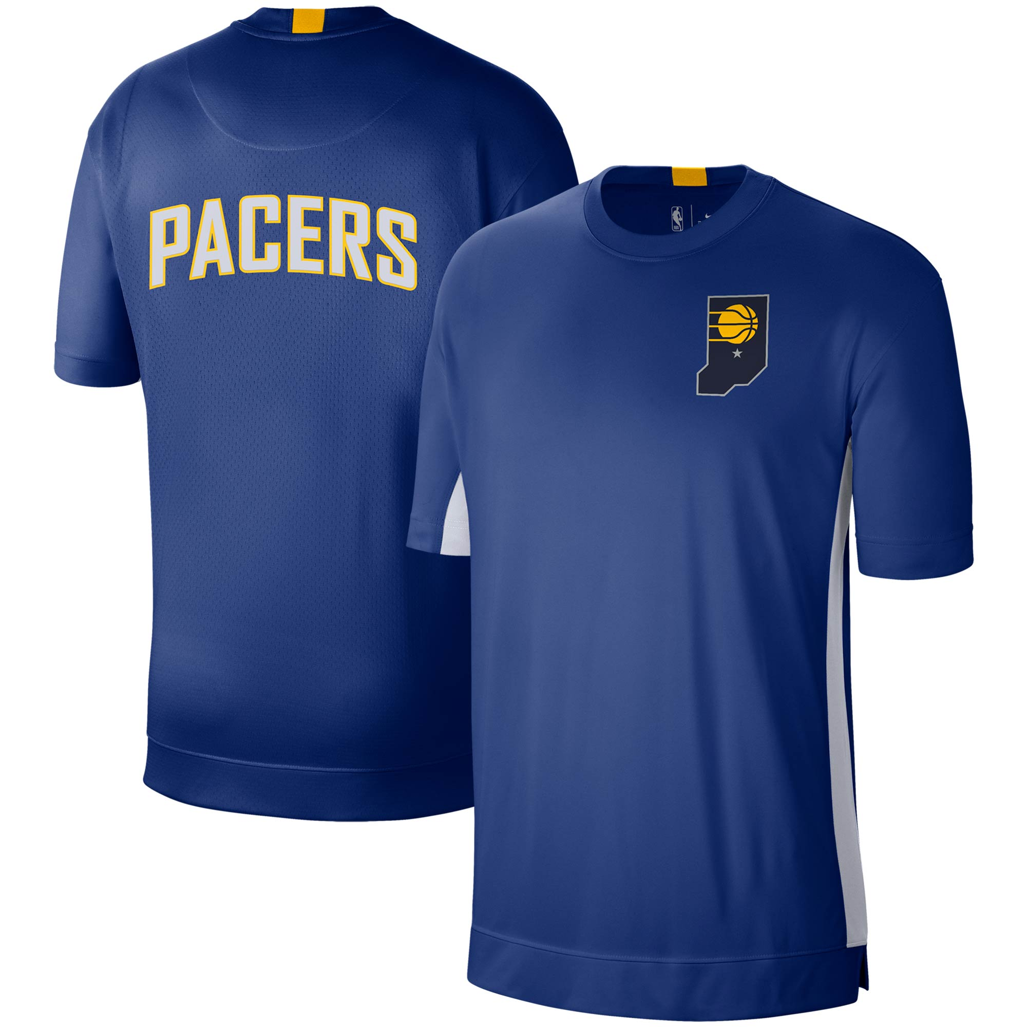 Indiana Pacers Nike City Edition 2.0 Shooting Performance T-Shirt - Blue/White