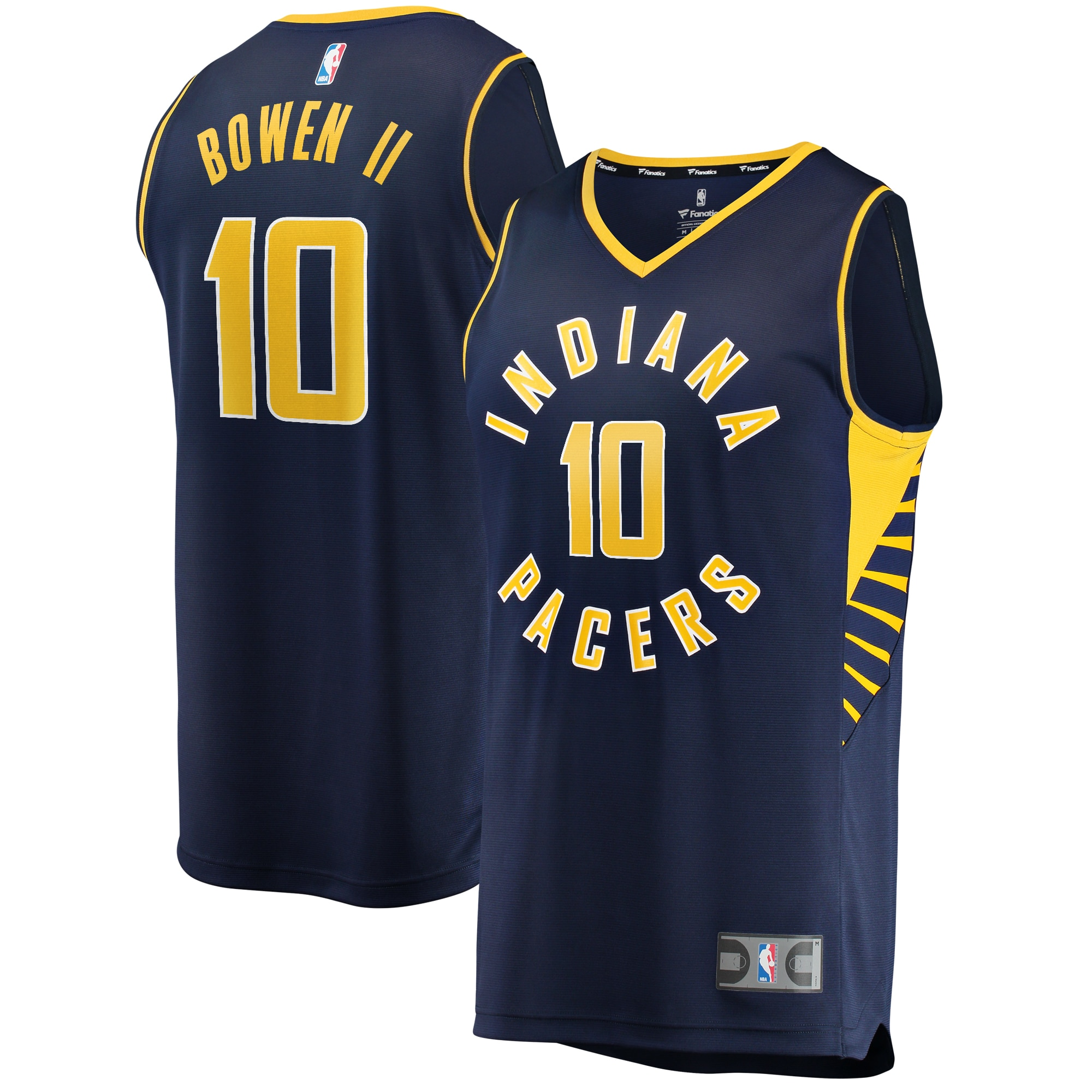 Brian Bowen II Indiana Pacers Fanatics Branded Youth Fast Break Replica Jersey Navy - Icon Edition