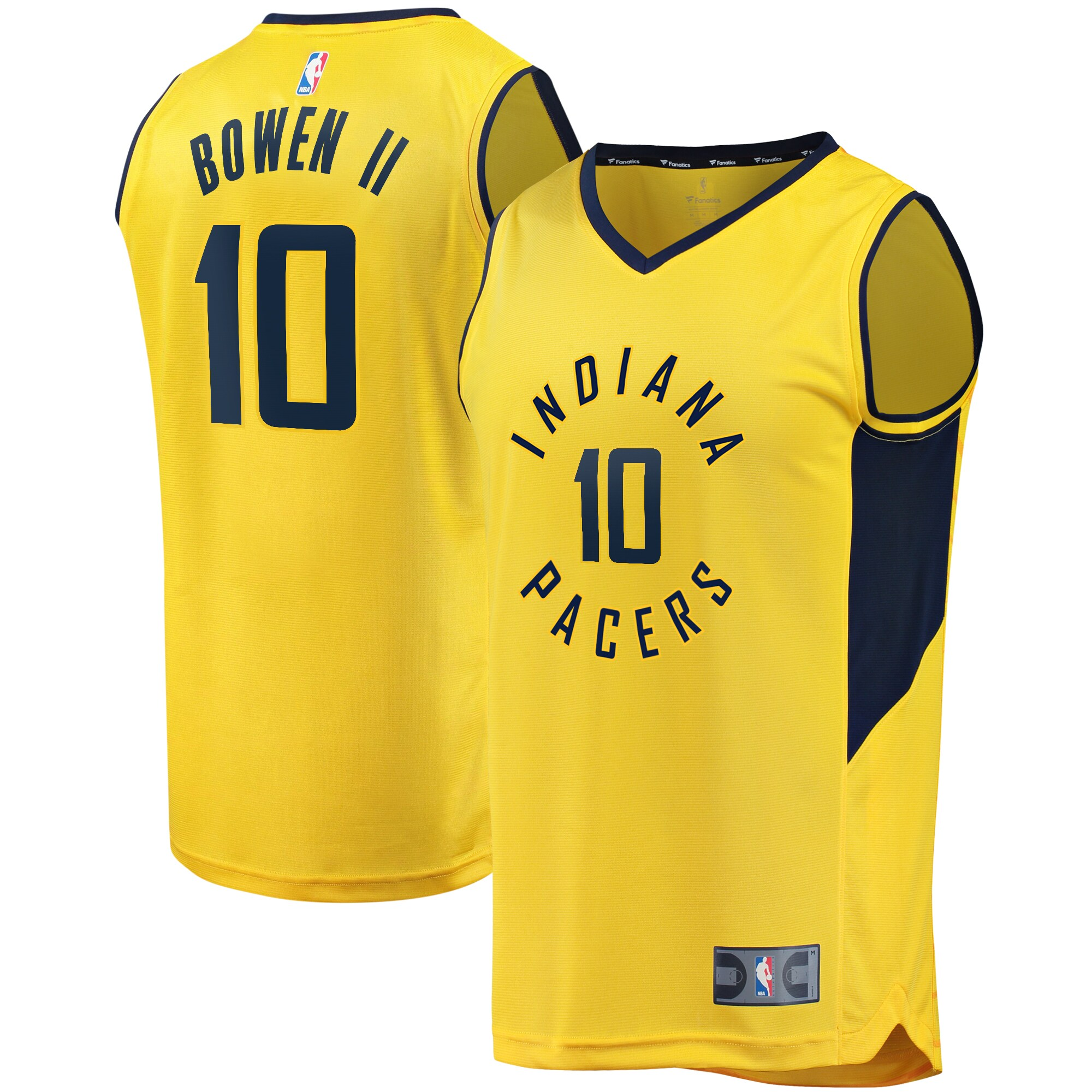 Brian Bowen II Indiana Pacers Fanatics Branded Youth Fast Break Replica Jersey Gold - Statement Edition