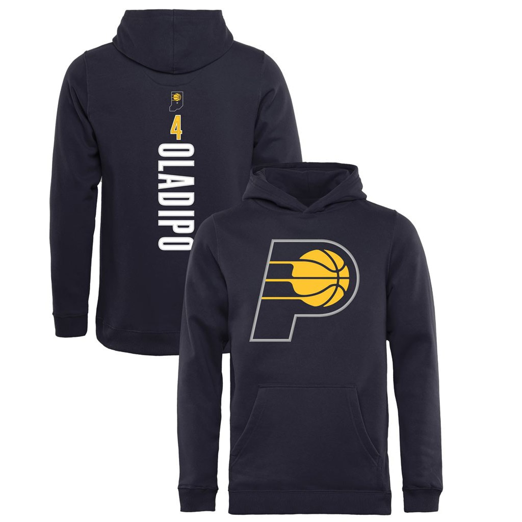 Victor Oladipo Indiana Pacers Fanatics Branded Youth Team Backer Name & Number Pullover Hoodie - Navy
