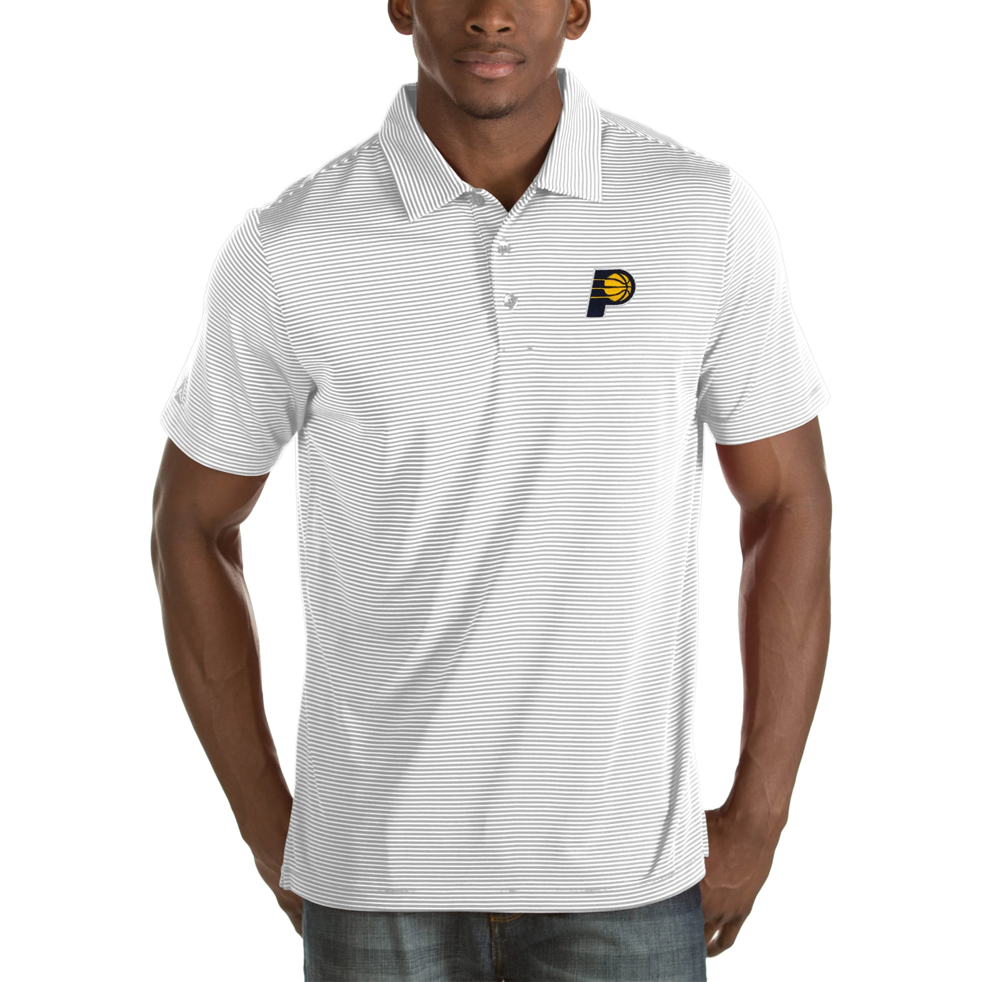 Indiana Pacers Antigua Quest Big & Tall Polo - White
