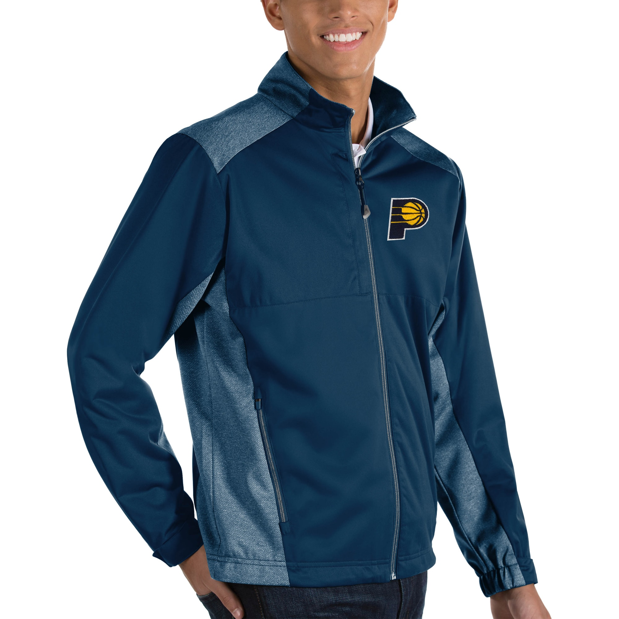 Indiana Pacers Antigua Revolve Big & Tall Full-Zip Jacket - Navy