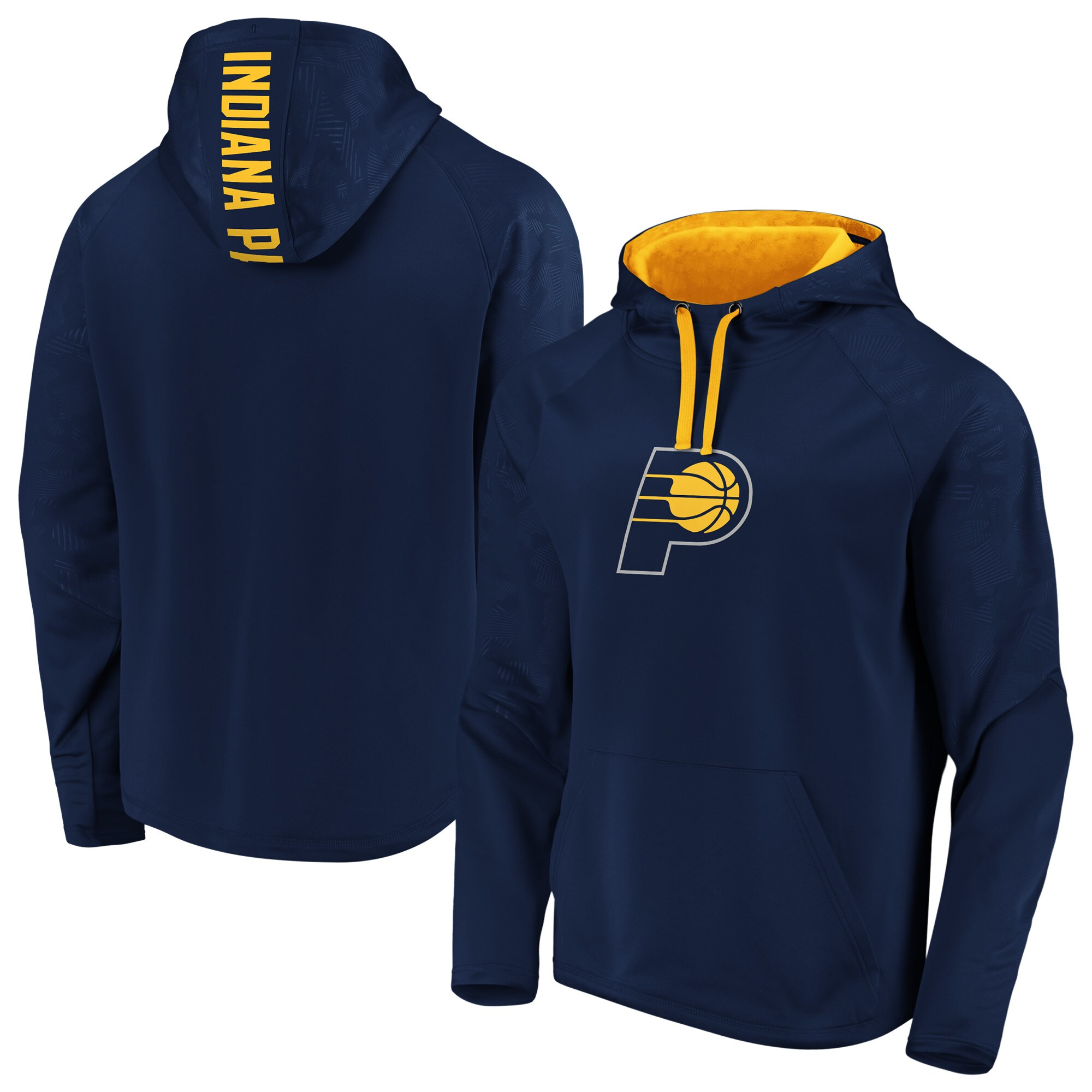 Indiana Pacers Fanatics Branded Iconic Defender Performance Primary Logo Pullover Hoodie - Navy/Gold