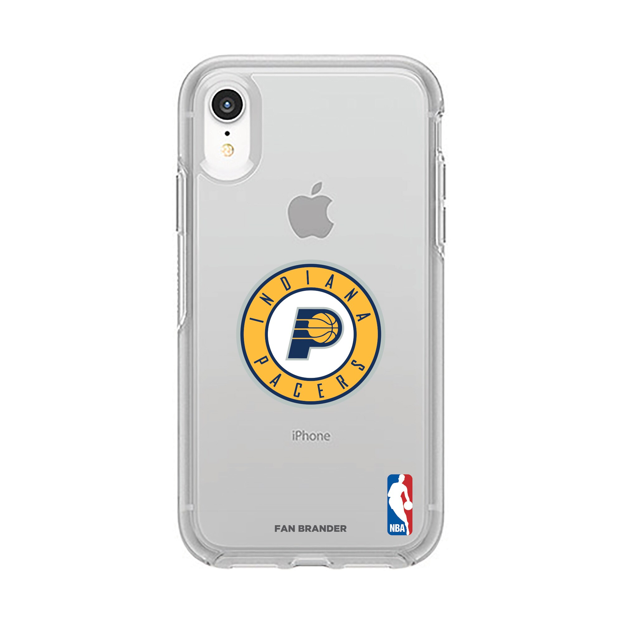 Indiana Pacers OtterBox Clear Primary Logo iPhone Case