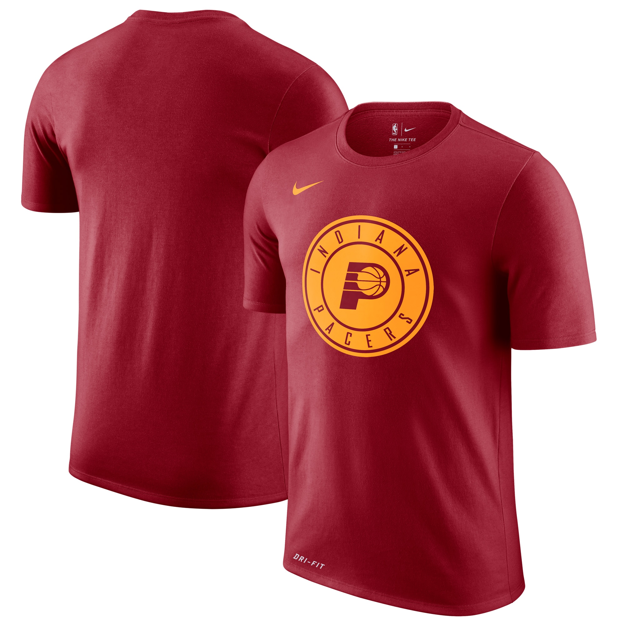 Indiana Pacers Nike Hardwood Classics Performance Logo T-Shirt - Red