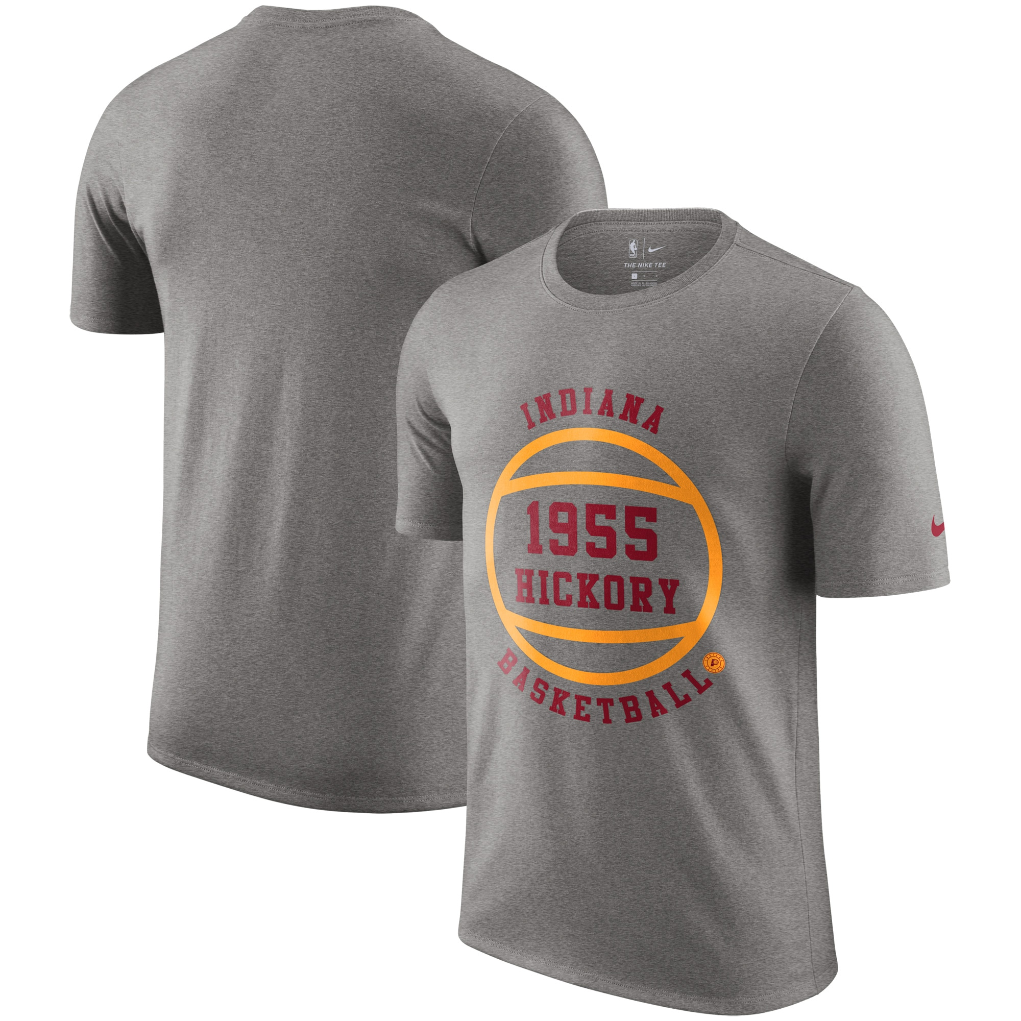 Indiana Pacers Nike Hardwood Classics Hometown Vintage T-Shirt - Heathered Gray