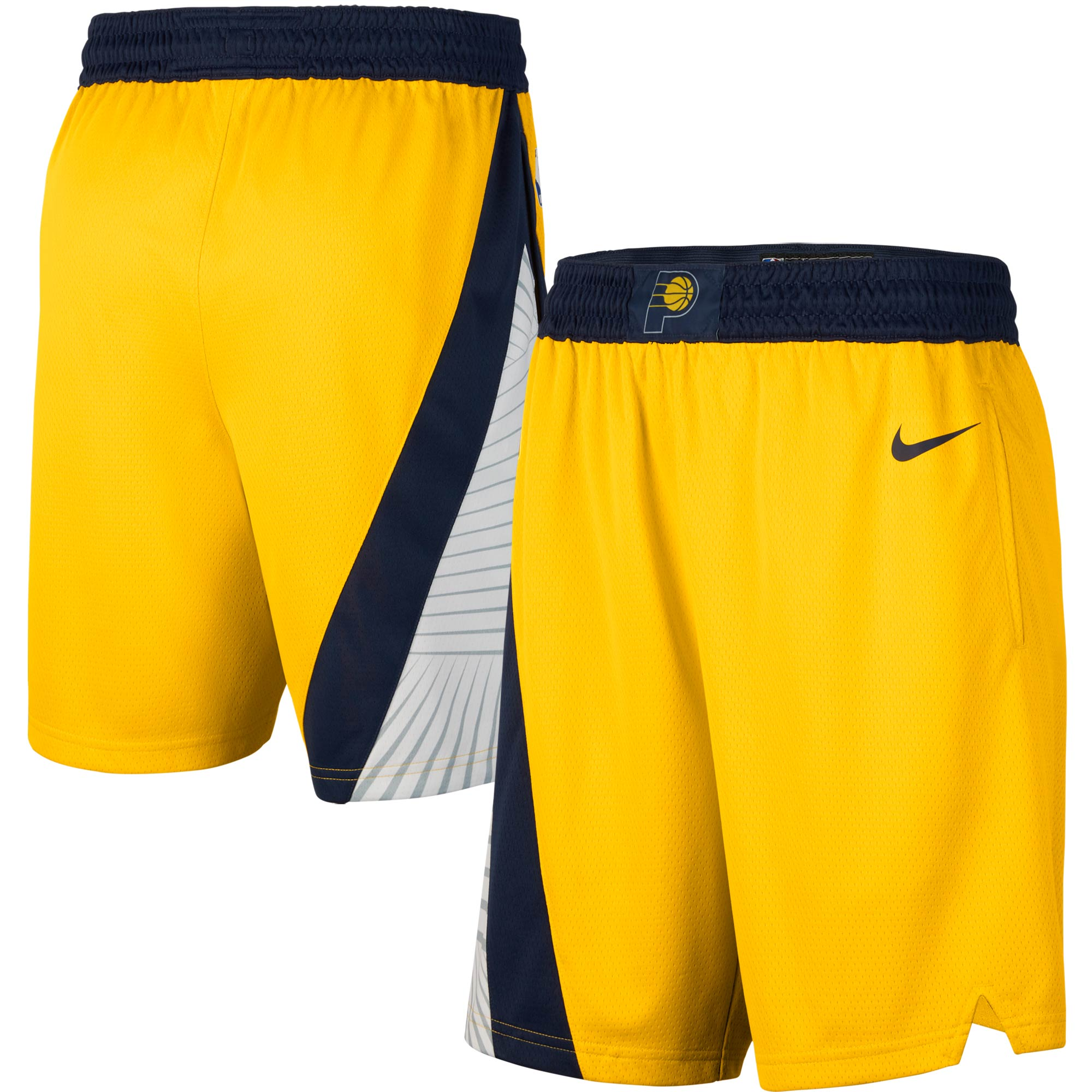 Indiana Pacers Nike 2019/20 Alternate Swingman Shorts - Statement Edition - Gold