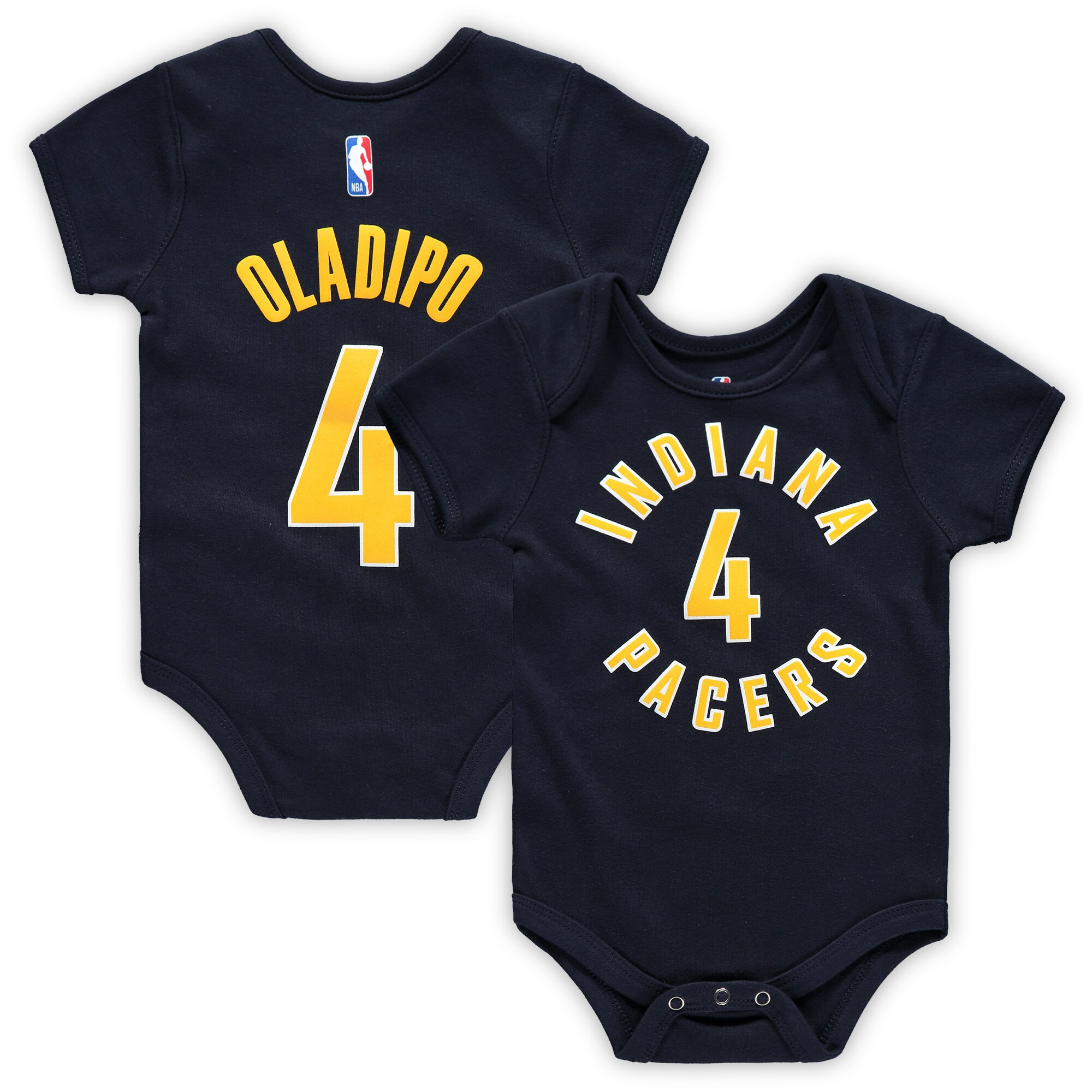 Victor Oladipo Indiana Pacers Infant Name & Number Bodysuit - Navy