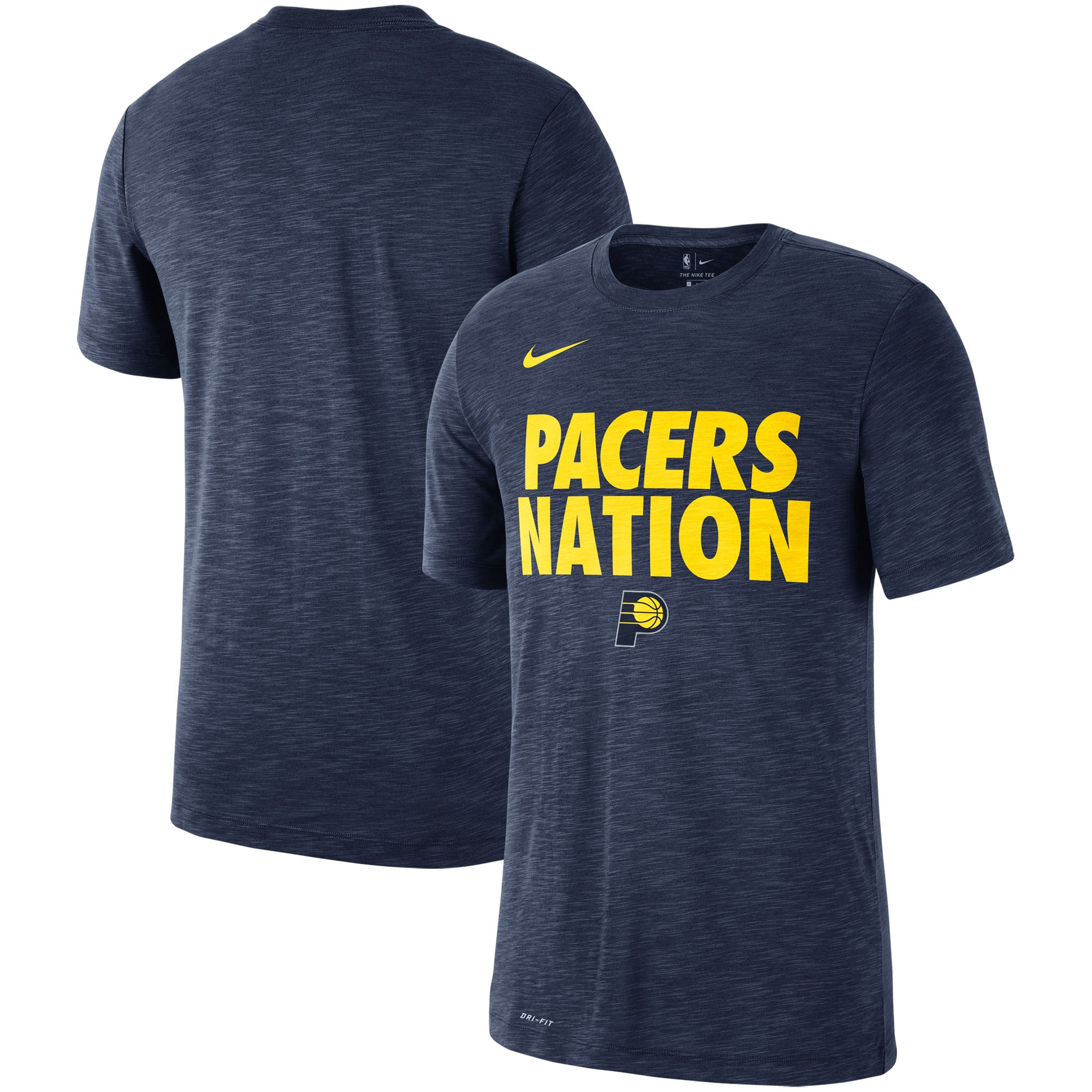 Indiana Pacers Nike Essential Team Attitude Performance T-Shirt - Heathered Navy
