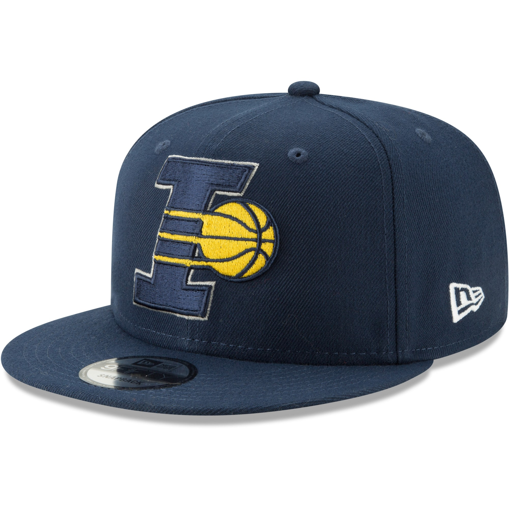 Indiana Pacers New Era Back Half 9FIFTY Adjustable Hat - Navy