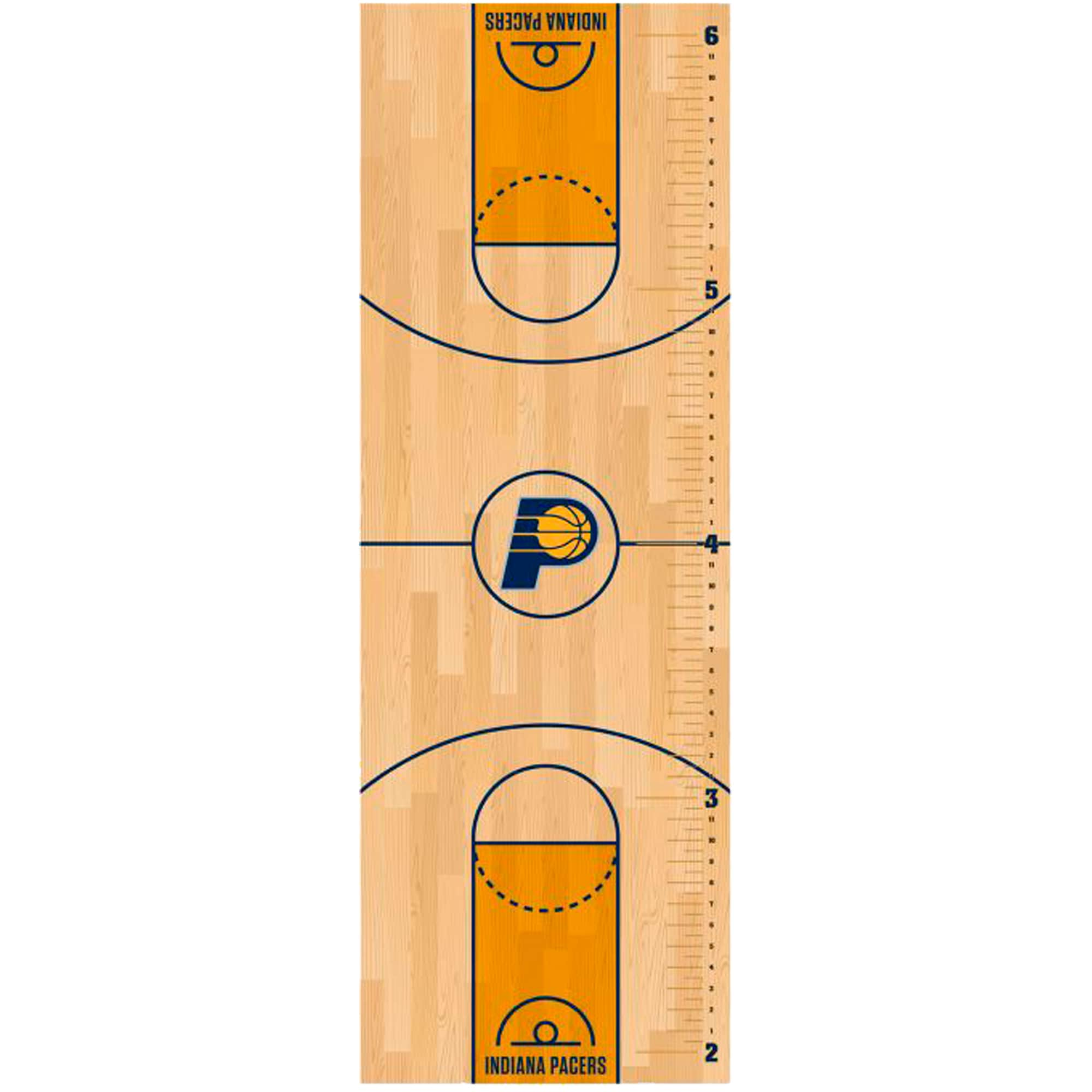 Indiana Pacers Fathead Basketball Court Large Removable Growth Chart