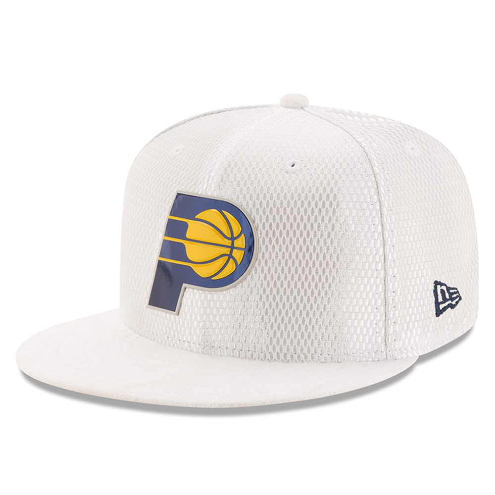 Indiana Pacers New Era 2017 Official On-Court Collection 59FIFTY Fitted Hat - White