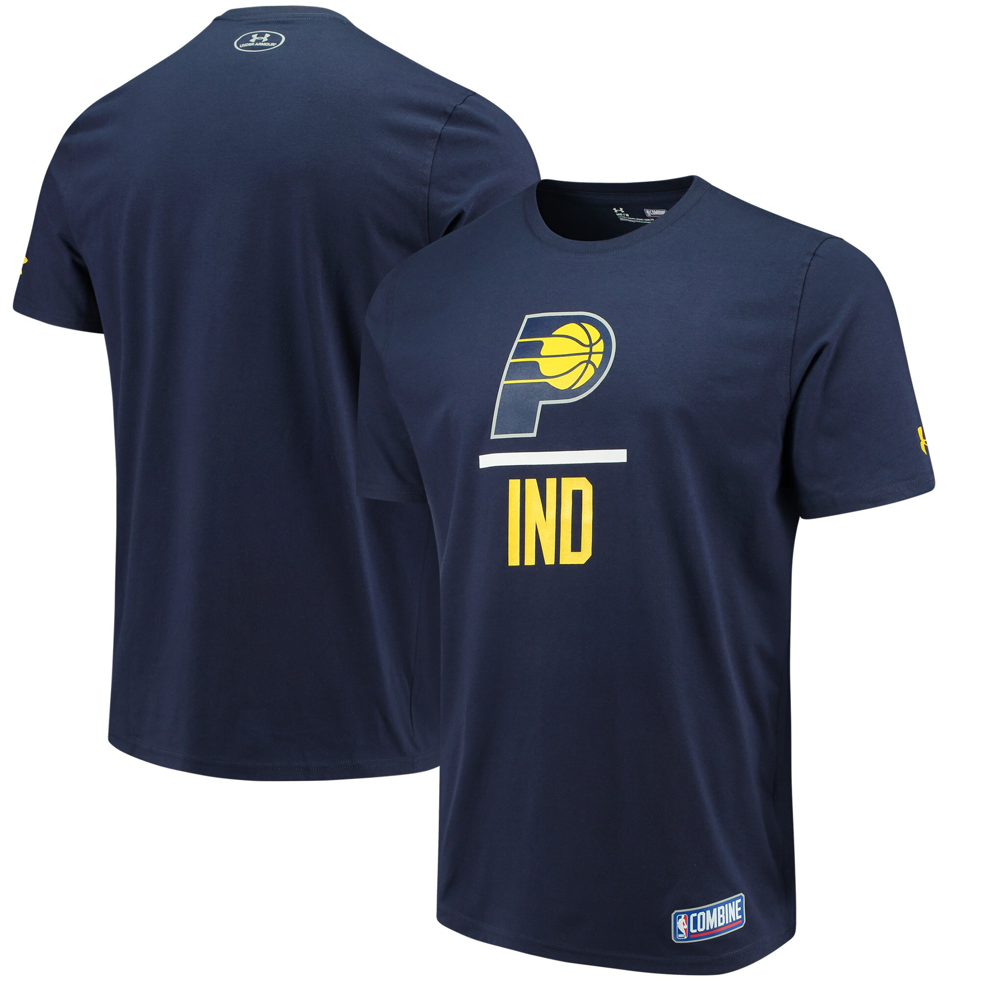 Indiana Pacers Under Armour Lock Up Performance T-Shirt - Navy