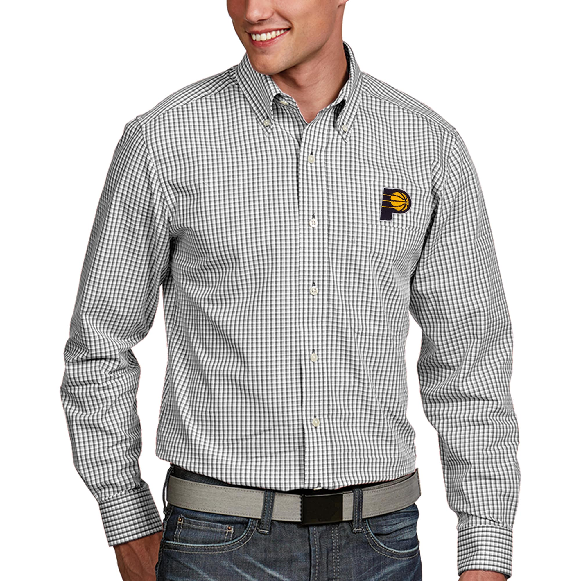 Indiana Pacers Antigua Associate Long Sleeve Button-Up Shirt - White