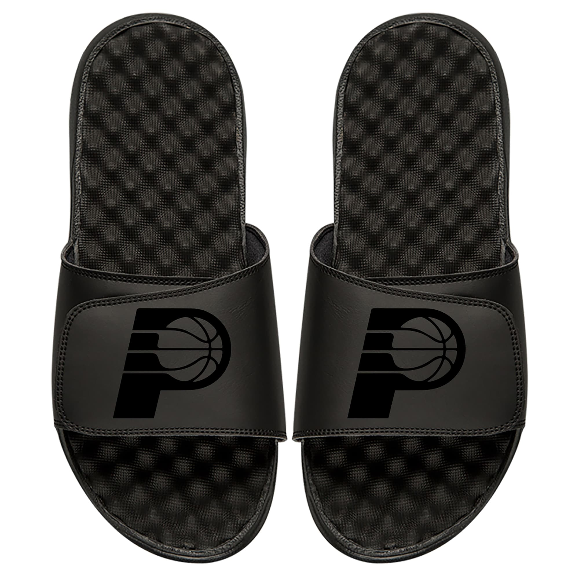Indiana Pacers ISlide Youth Tonal Slide Sandals - Black