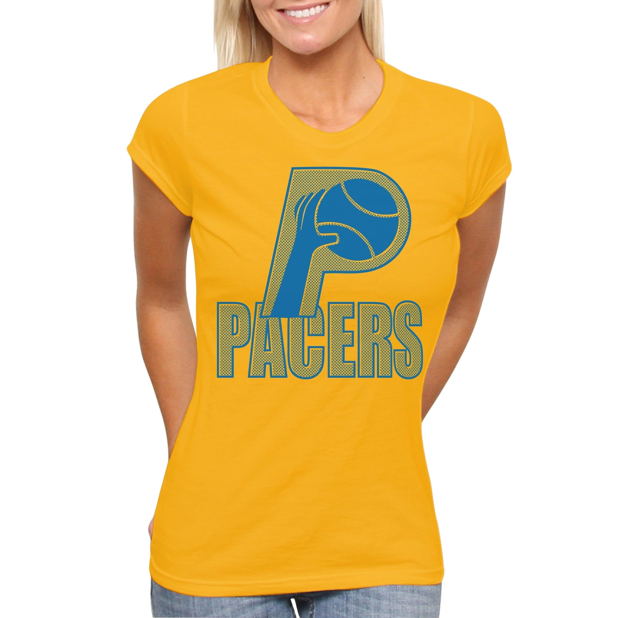 Indiana Pacers Womens Spring T-Shirt - Yellow