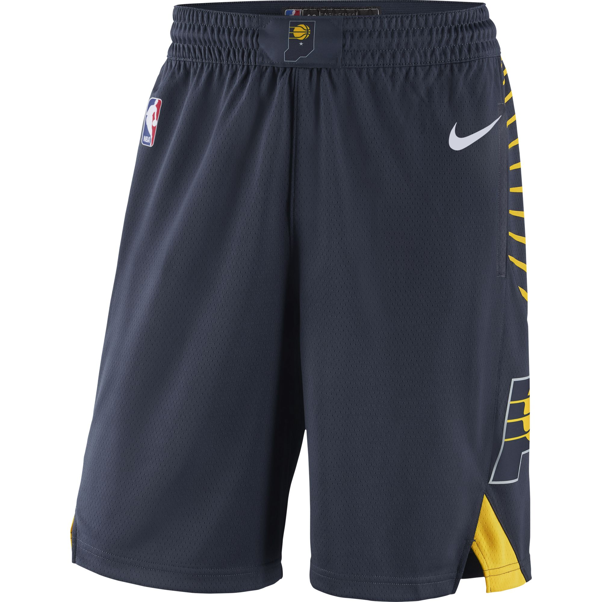 Indiana Pacers Nike 2019/20 Icon Edition Swingman Shorts - Navy