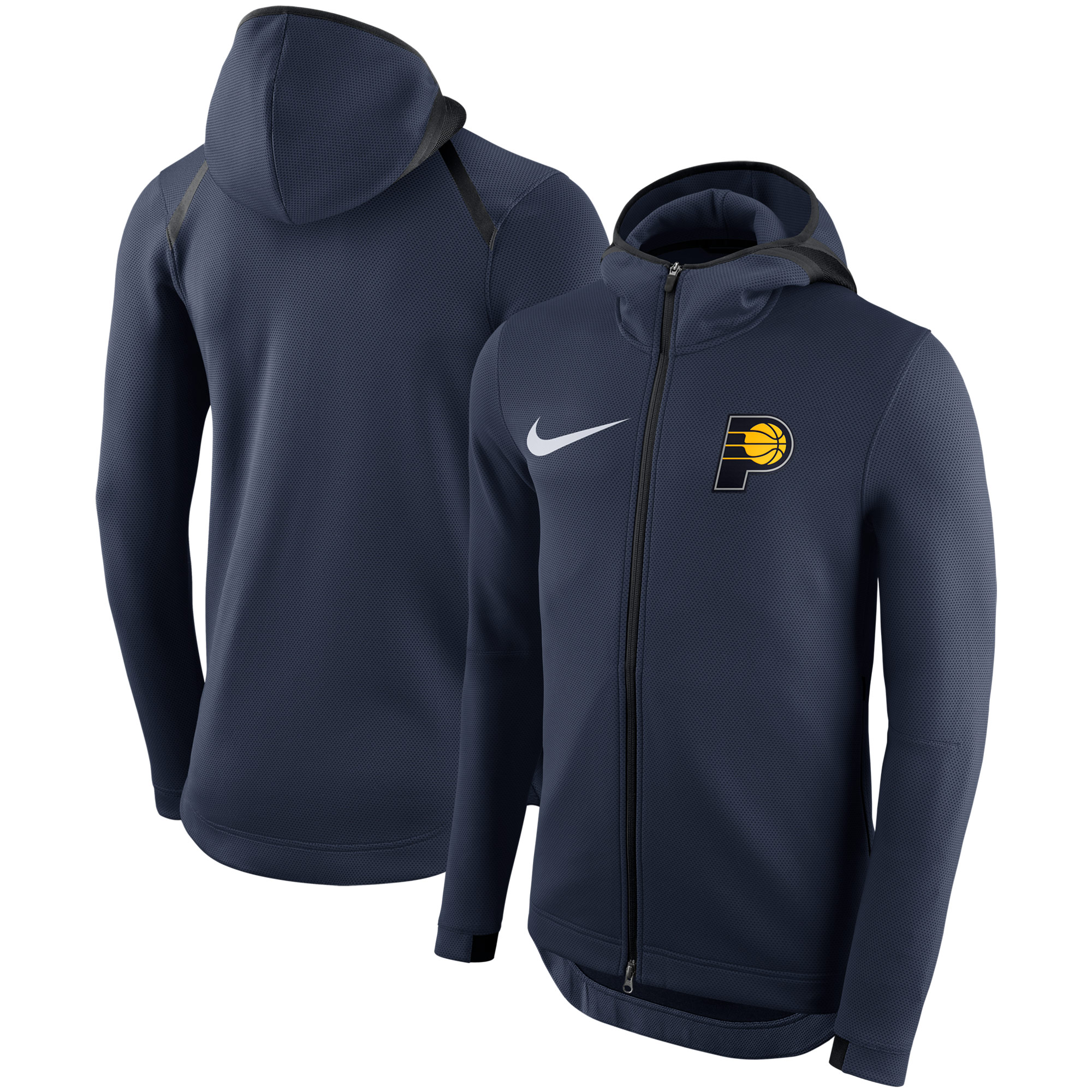 Indiana Pacers Nike Showtime Therma Flex Performance Full-Zip Hoodie - Navy
