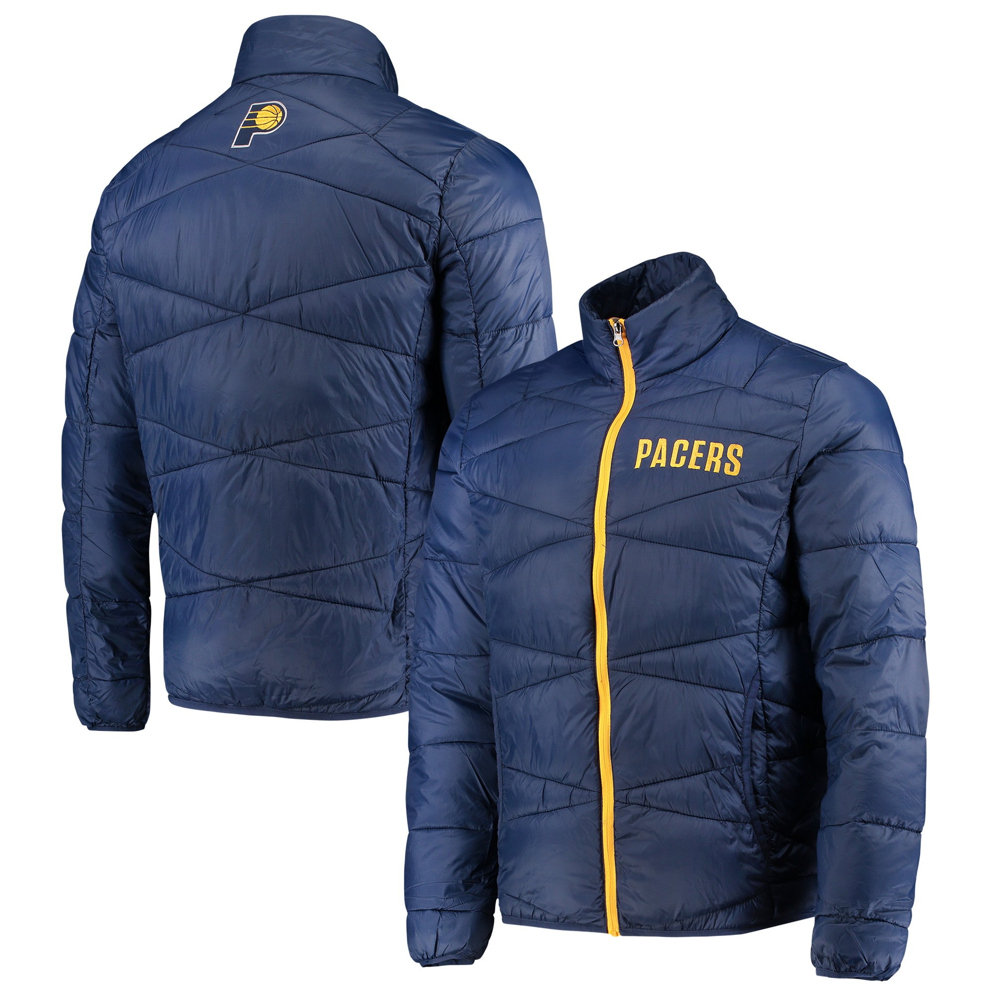Indiana Pacers G-III Sports by Carl Banks Blitz Full-Zip Packable Jacket - Navy