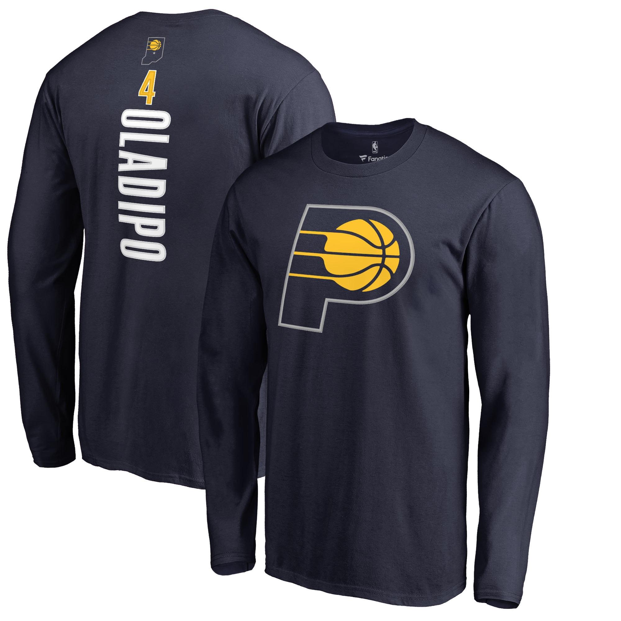 Victor Oladipo Indiana Pacers Fanatics Branded Backer Long Sleeve T-Shirt - Navy