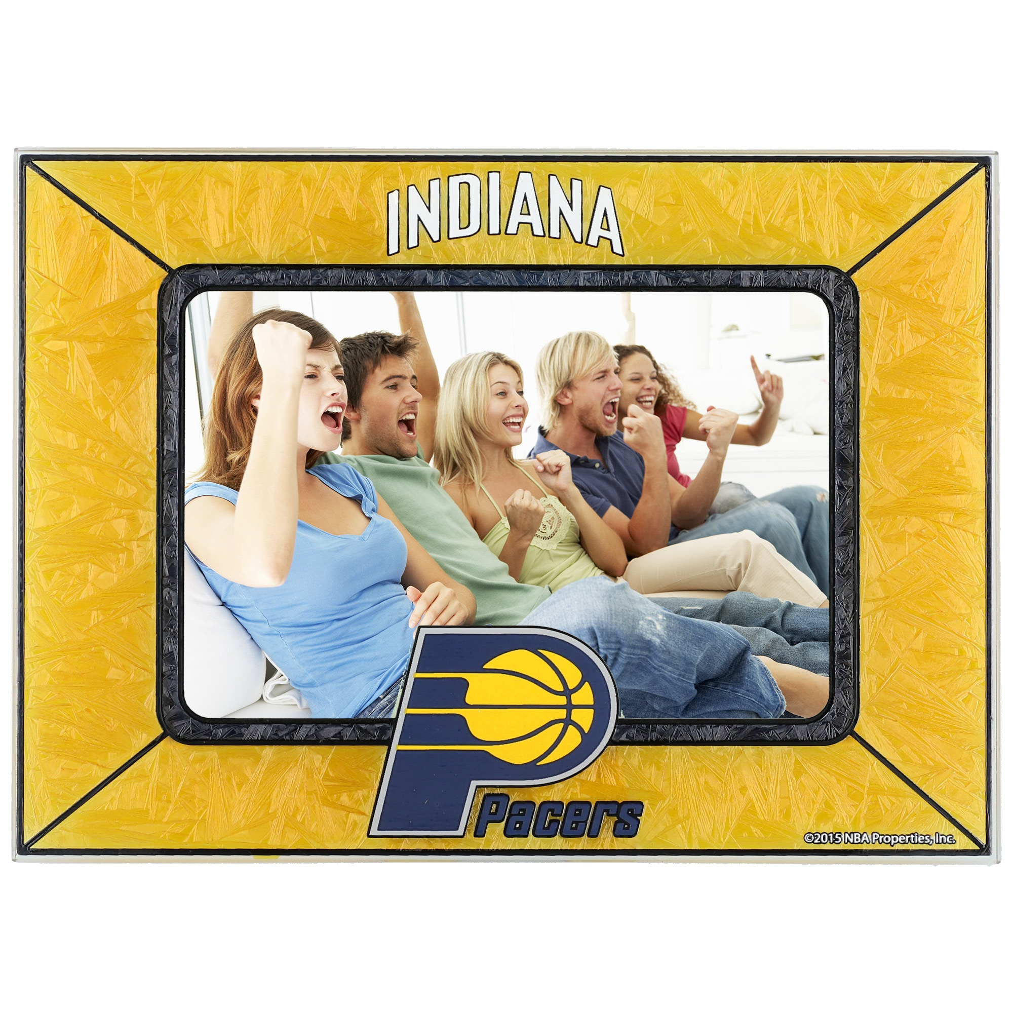 Indiana Pacers Horizontal Art Glass Frame