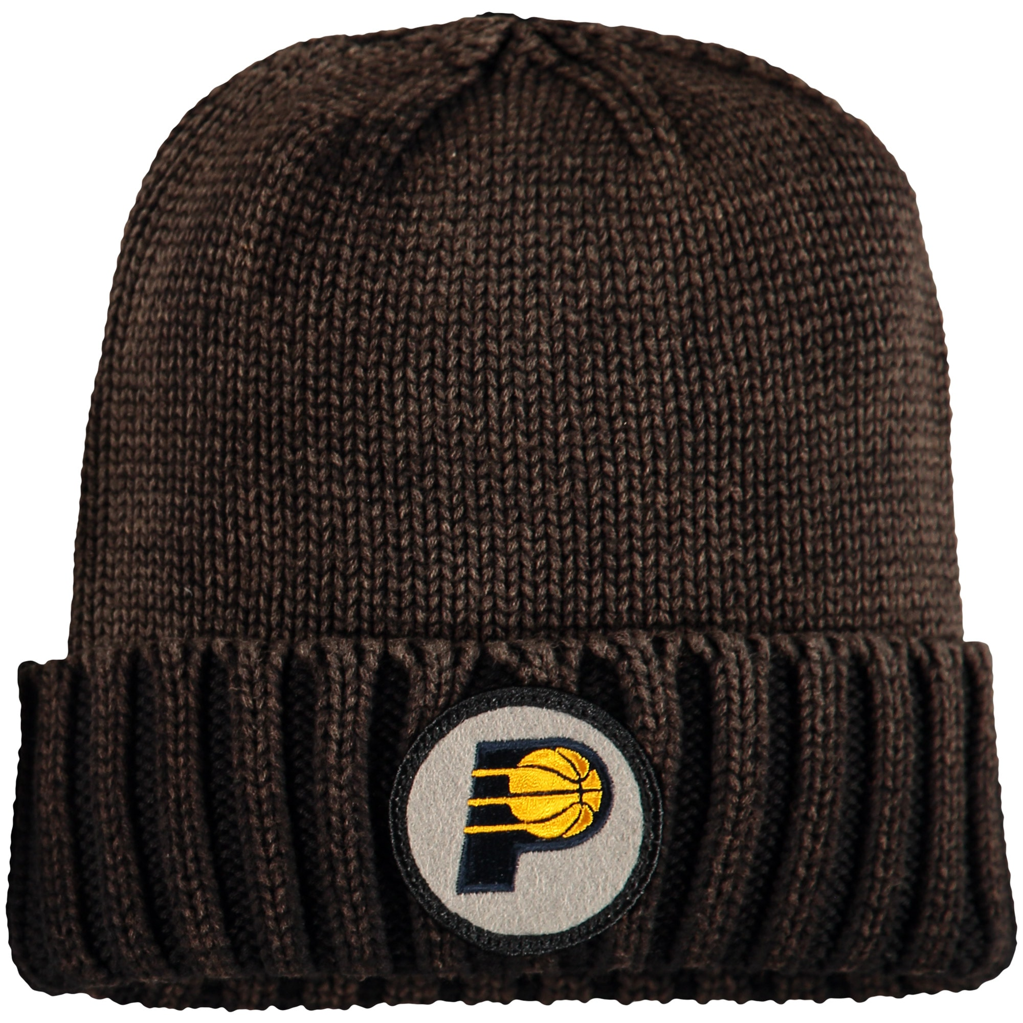 Indiana Pacers Mitchell & Ness Current Logo Ribbed Knit Hat - Brown