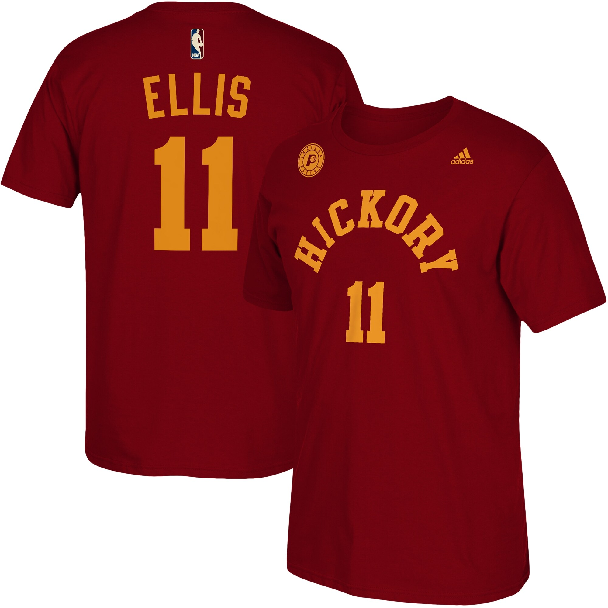 Monta Ellis Indiana Pacers adidas Hickory Net Name & Number T-Shirt - Red