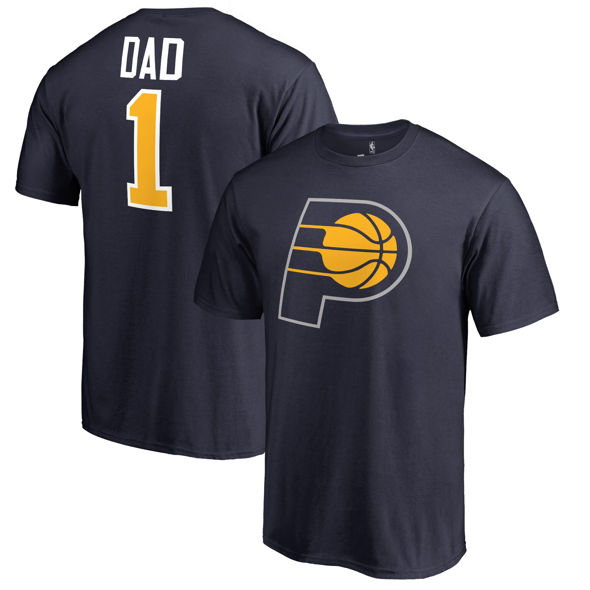 Indiana Pacers #1 Dad T-Shirt - Navy