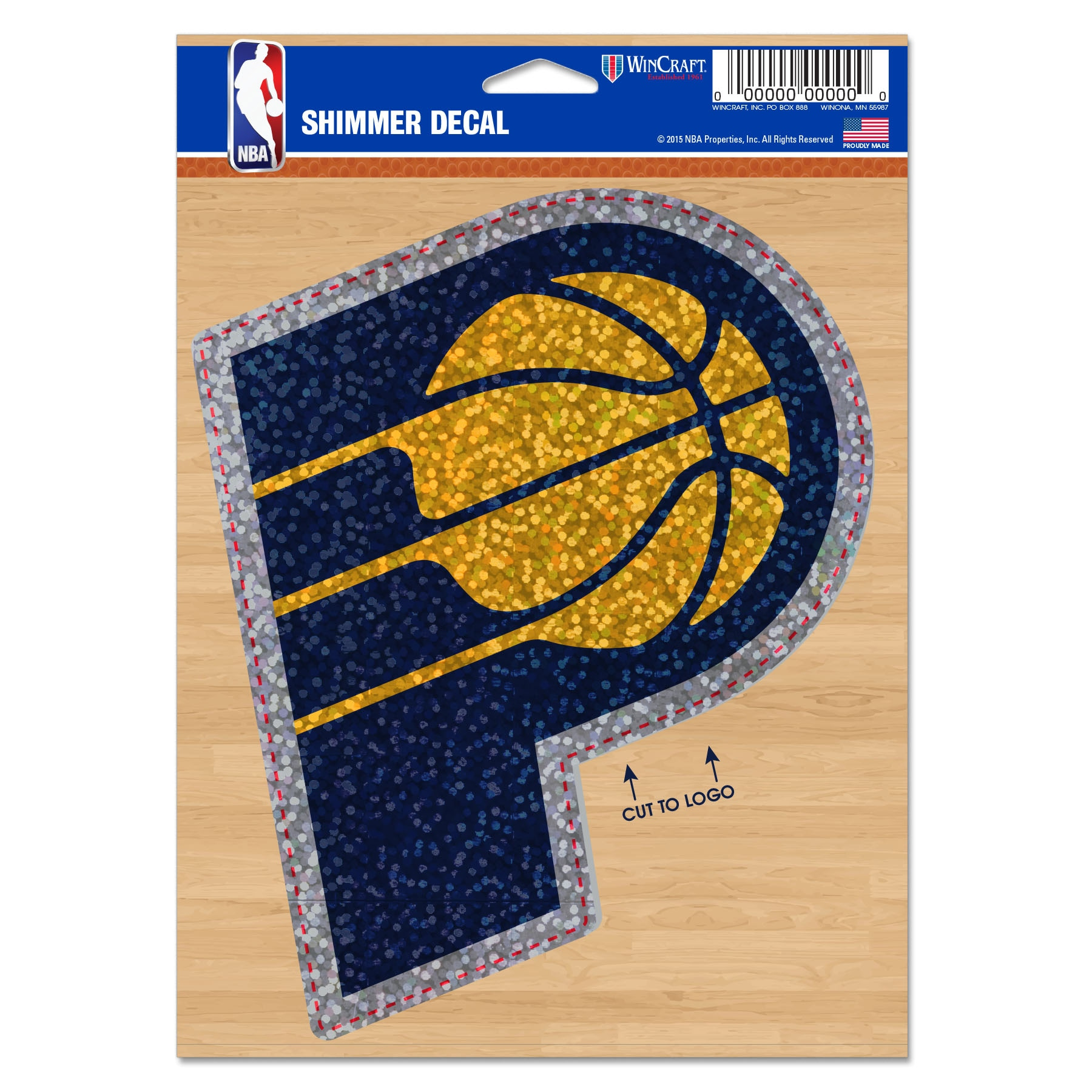 """Indiana Pacers WinCraft 5"""" x 7"""" Shimmer Decal"""
