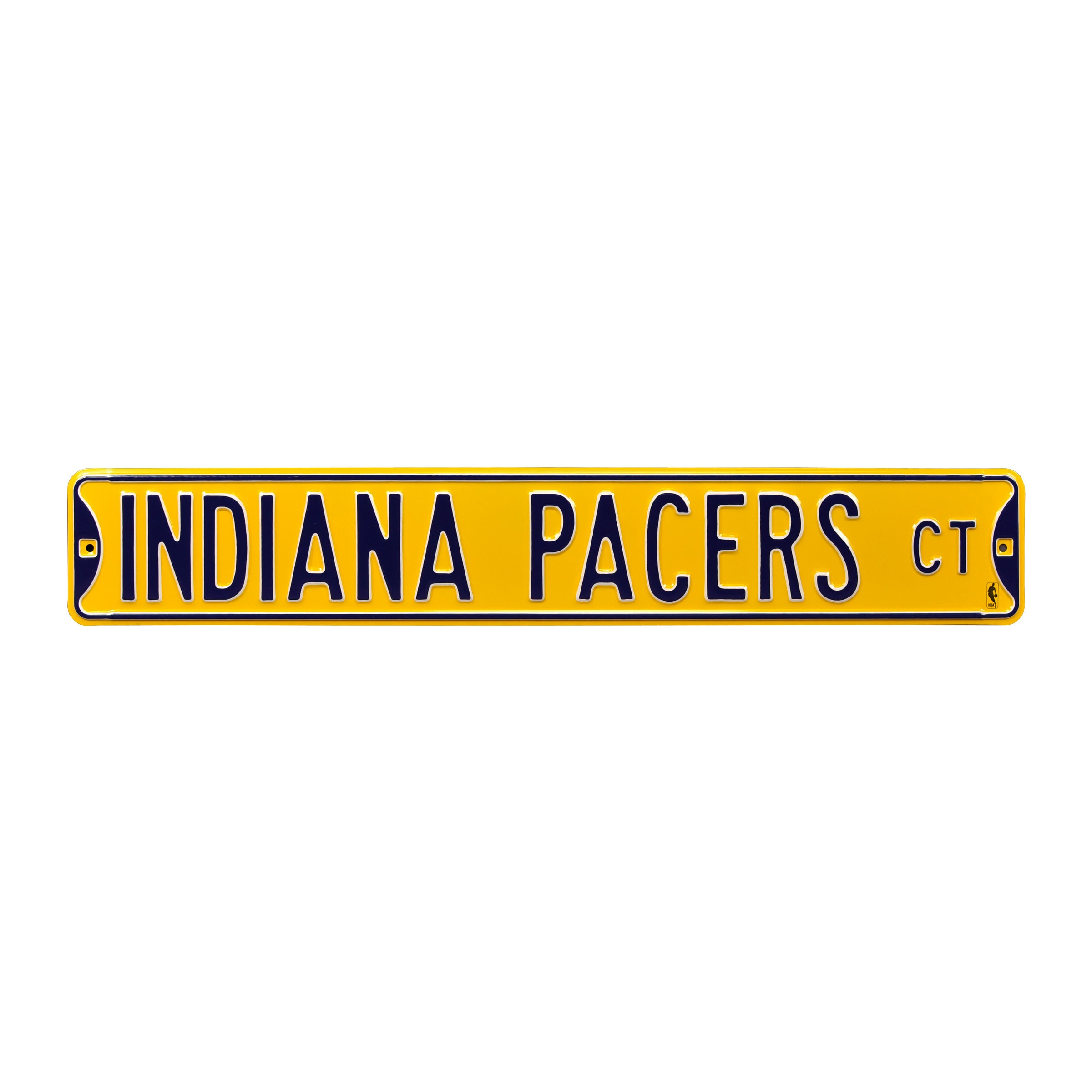 """Indiana Pacers 6"""" x 36"""" Steel Street Sign - Yellow"""