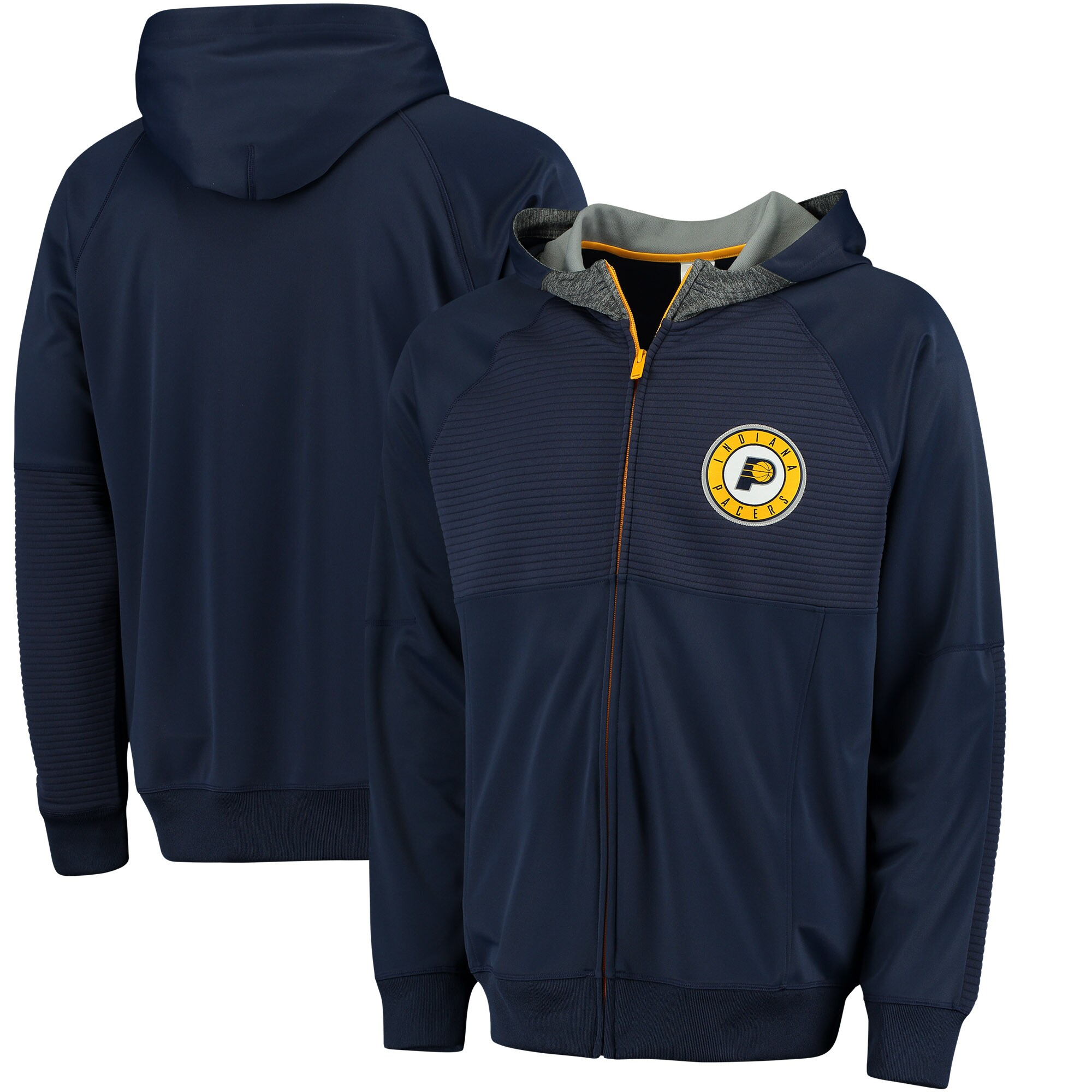 Indiana Pacers adidas 2016 Pre-Game Full-Zip Hooded Jacket - Navy