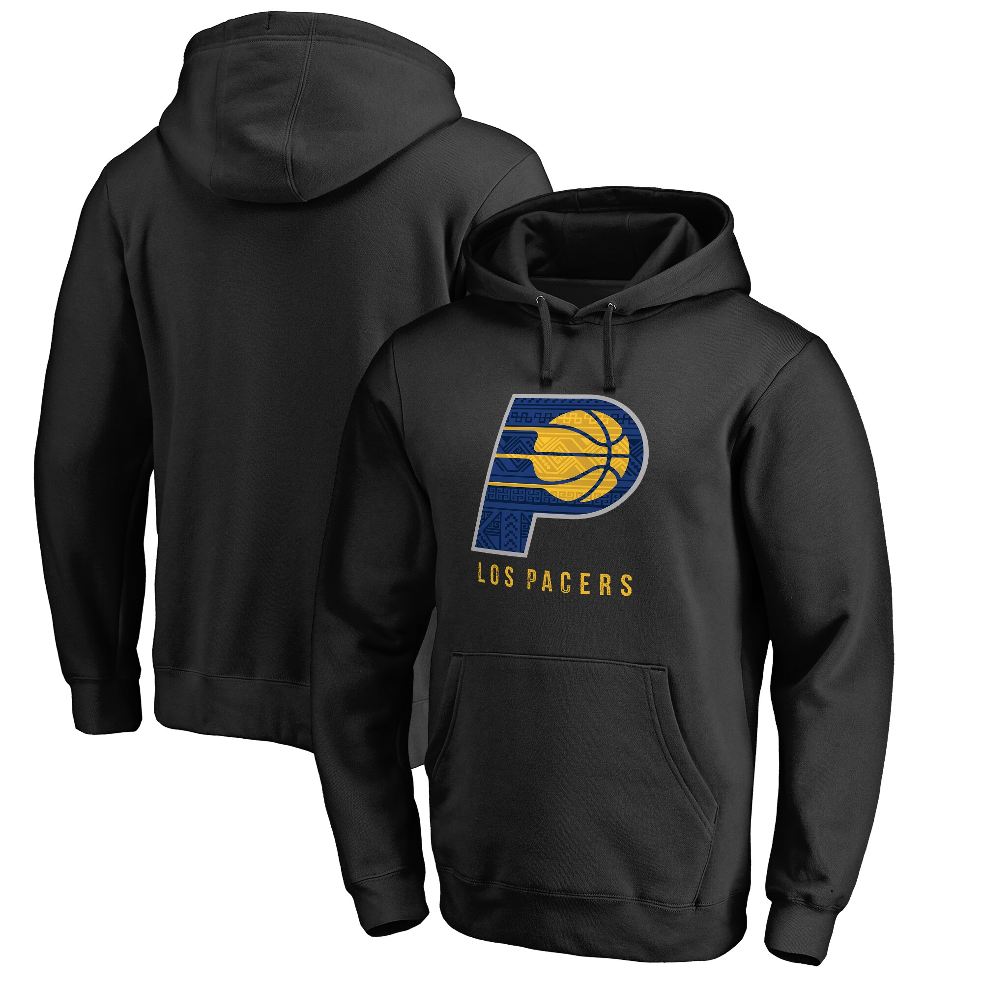 Indiana Pacers Fanatics Branded 2017 Noches Éne-Bé-A Pullover Hoodie - Black