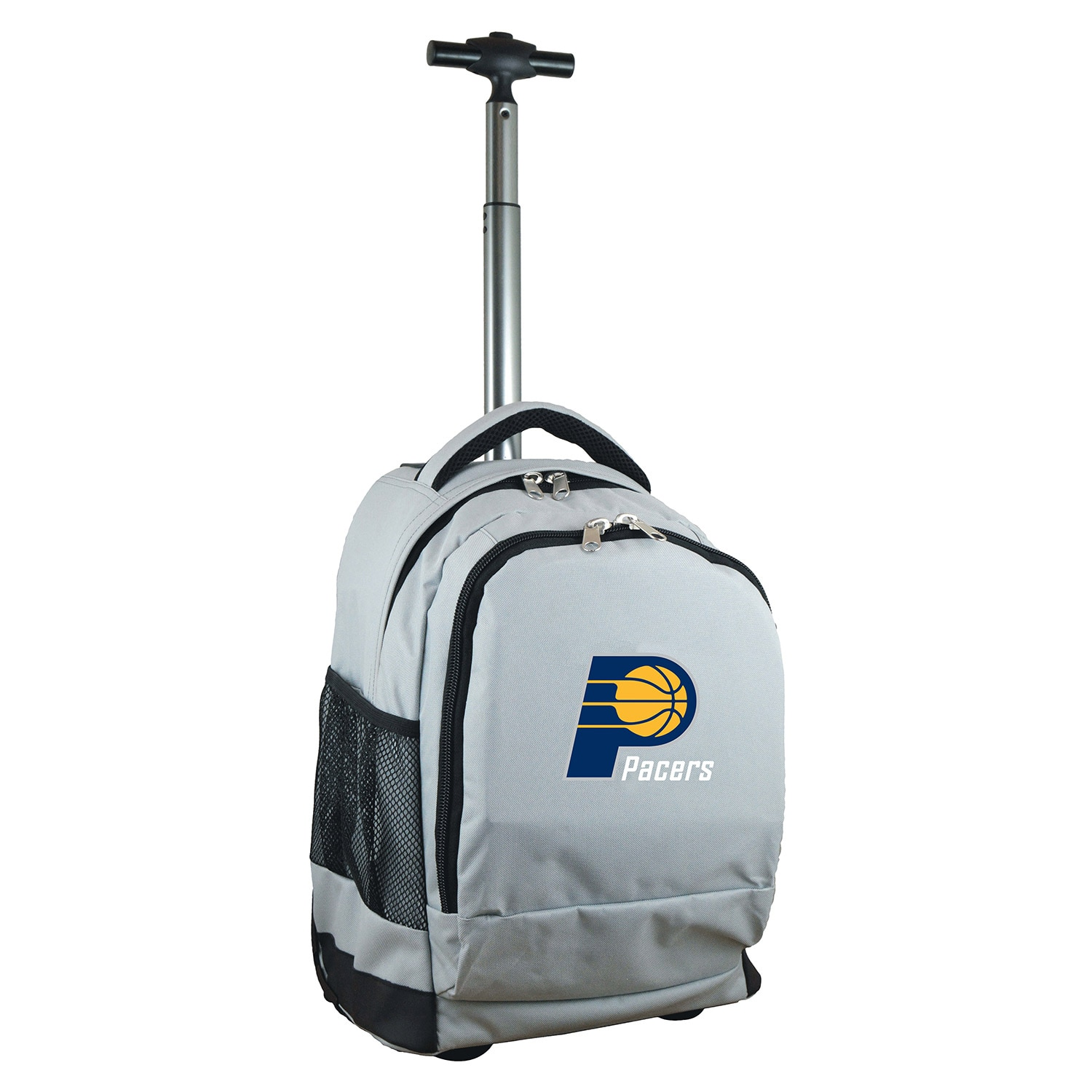Indiana Pacers 19'' Premium Wheeled Backpack - Gray