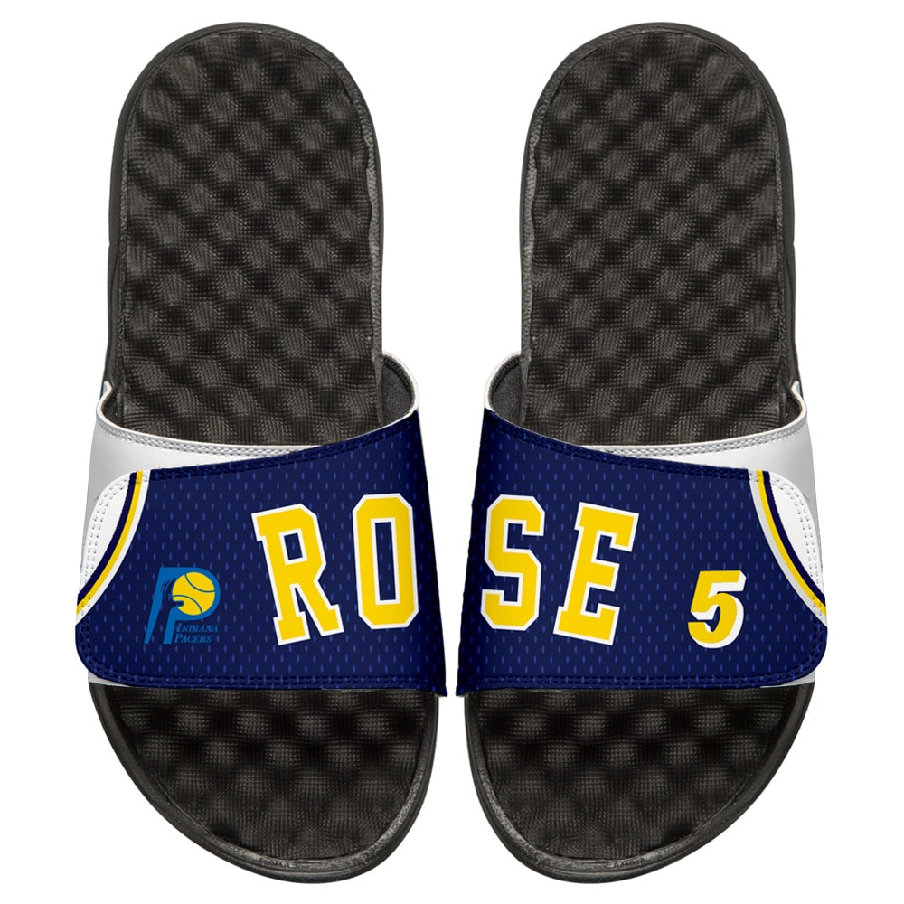 Jalen Rose Indiana Pacers ISlide Youth Retro Jersey Slide Sandals