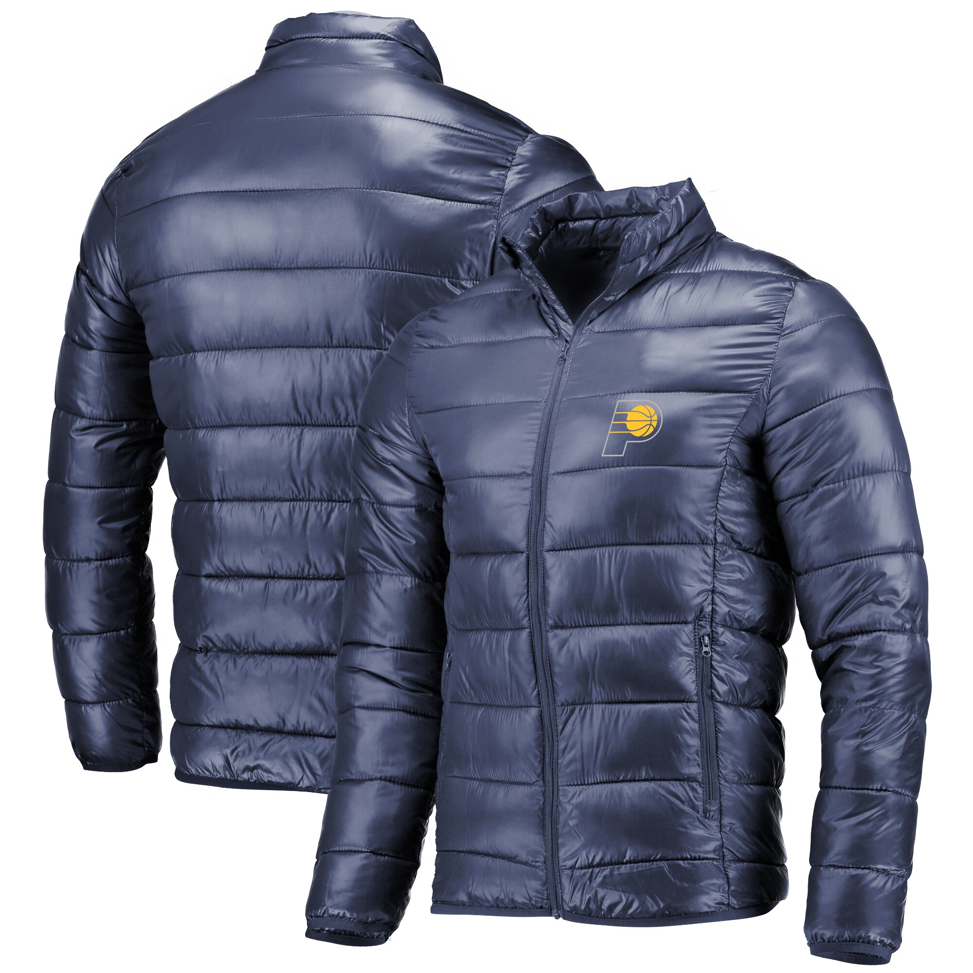 Indiana Pacers Fanatics Branded Polyester Filled Puffer Jacket - Navy