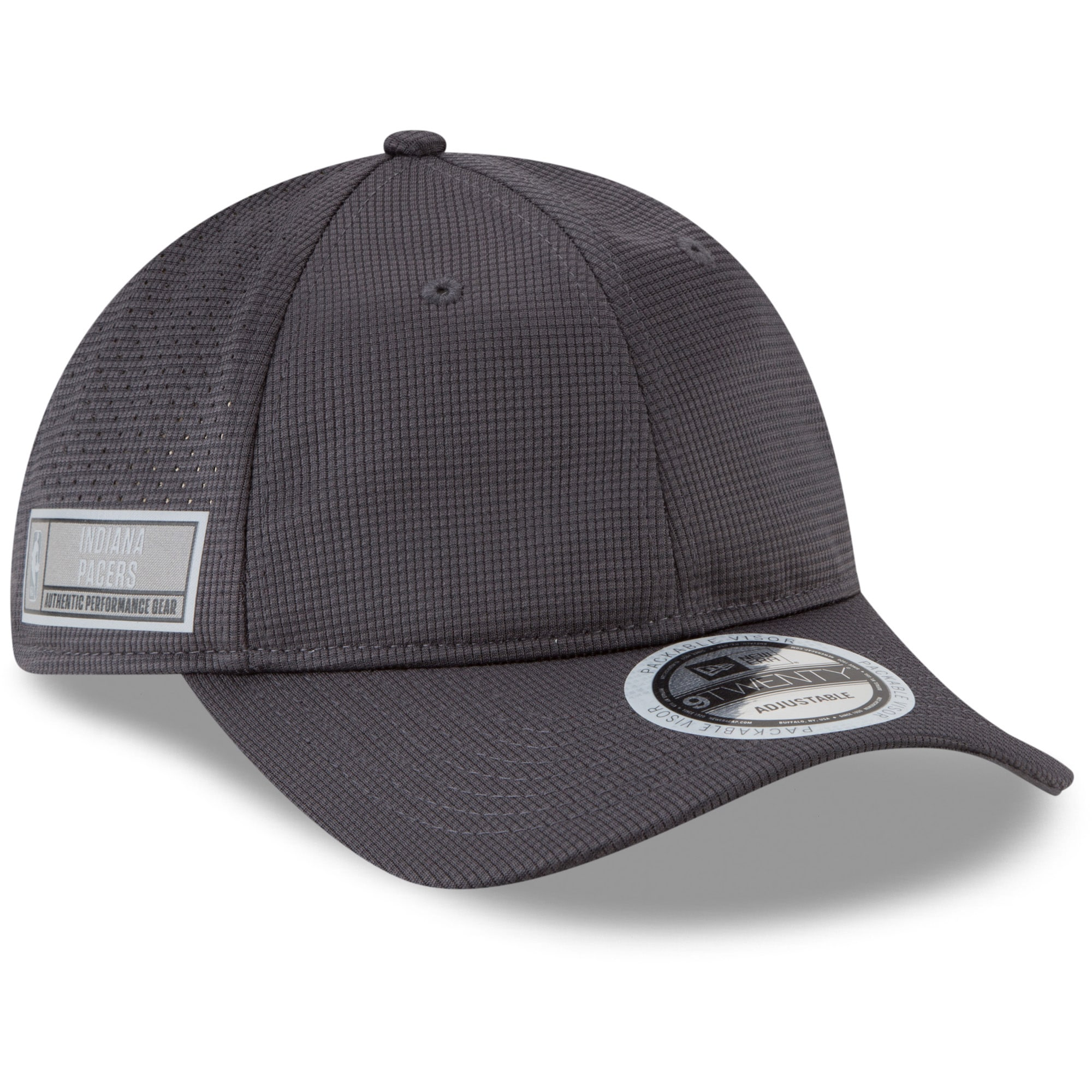 Indiana Pacers New Era Authentics Training 9TWENTY Adjustable Hat - Graphite